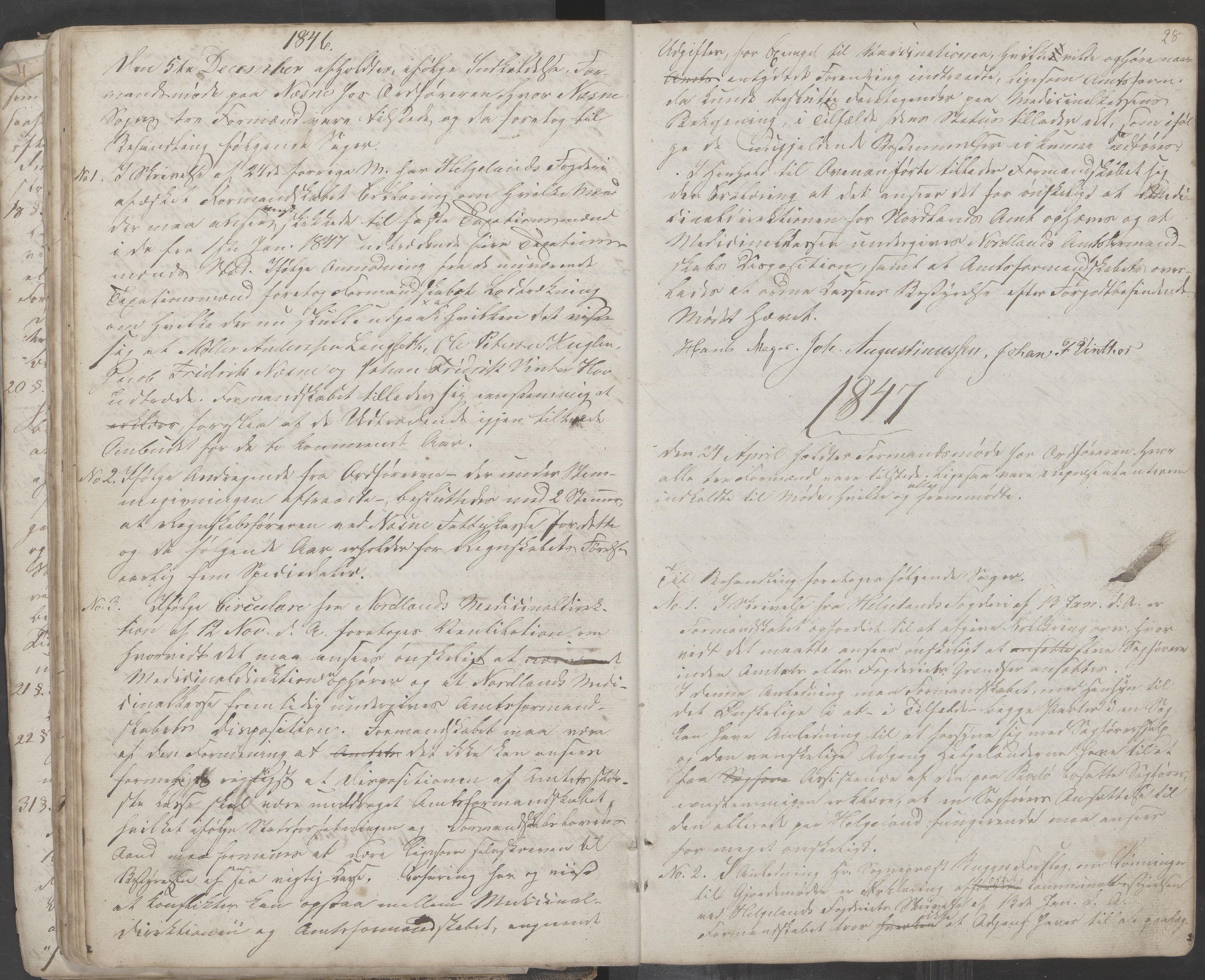 AIN, Nesna kommune. Formannskapet, 100/L0001: Møtebok, 1838-1873, s. 28