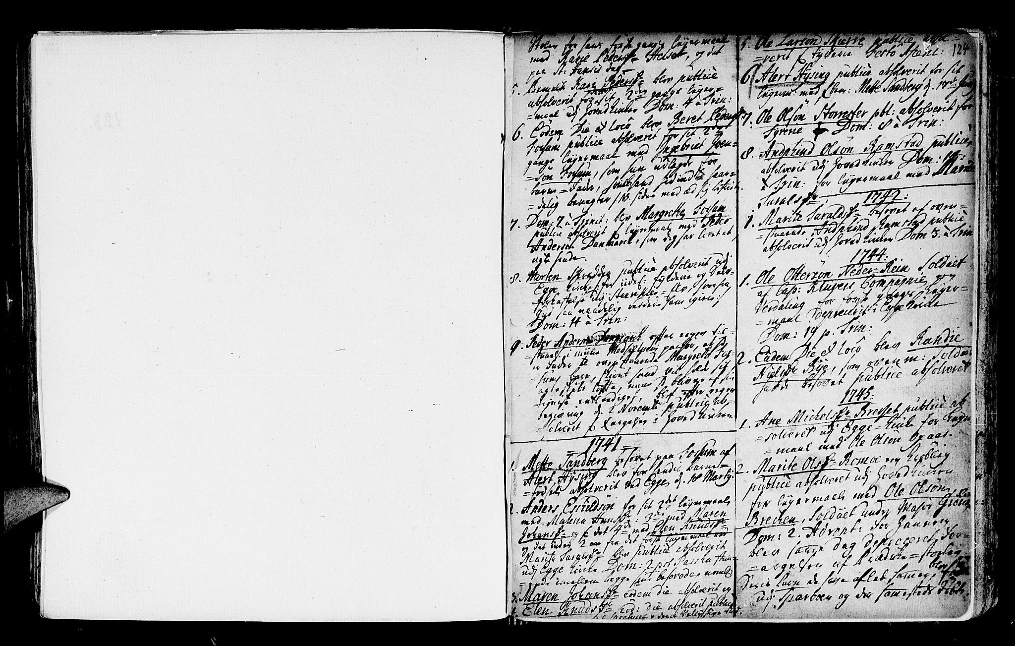 SAT, Ministerialprotokoller, klokkerbøker og fødselsregistre - Nord-Trøndelag, 746/L0439: Ministerialbok nr. 746A01, 1688-1759, s. 124