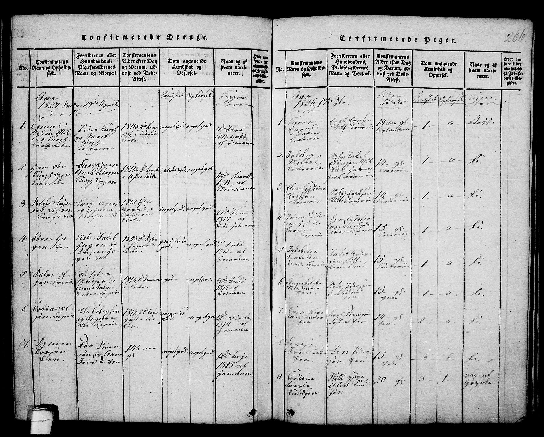 SAKO, Kragerø kirkebøker, G/Ga/L0002: Klokkerbok nr. 2, 1814-1831, s. 266