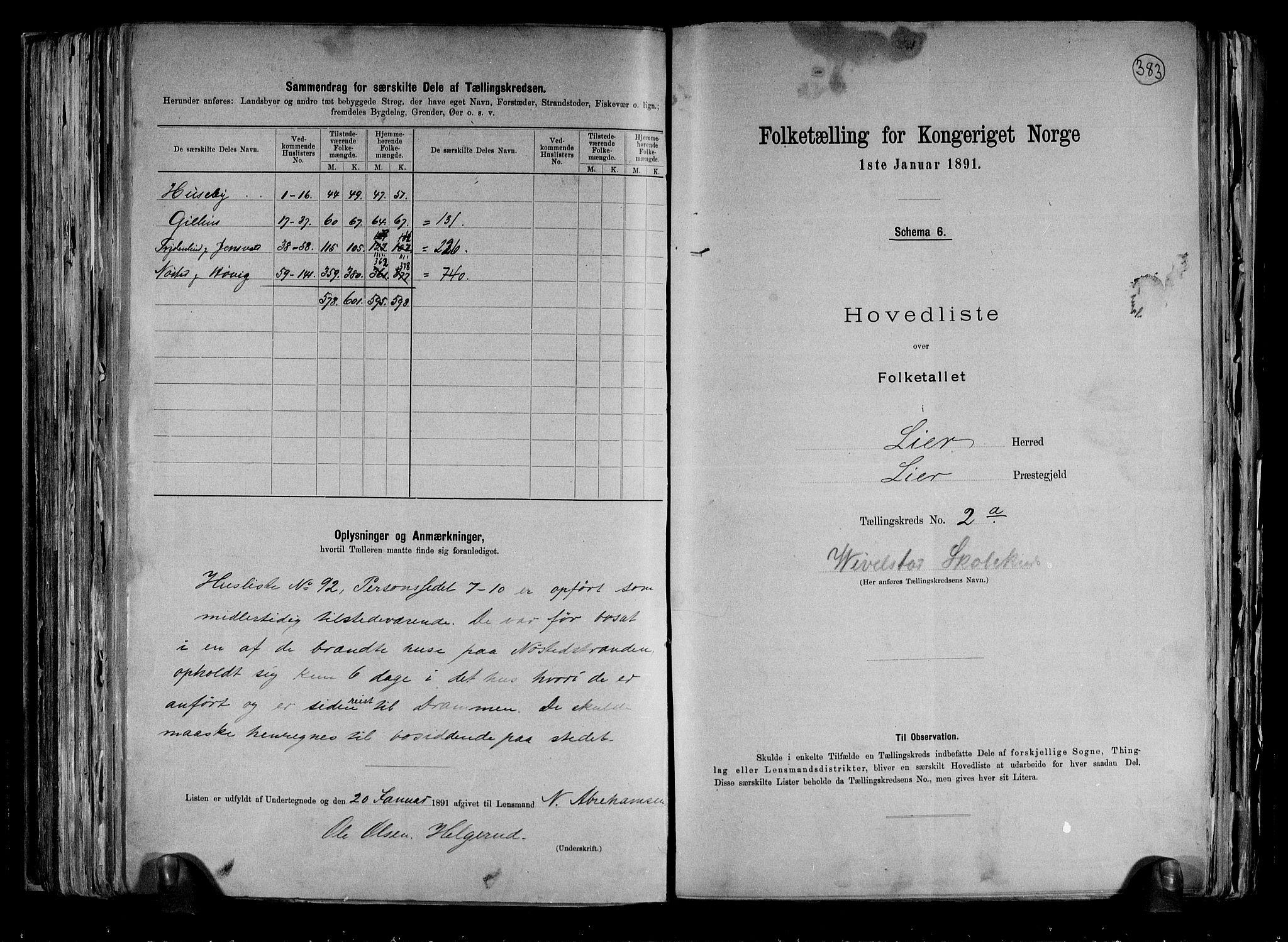 RA, Folketelling 1891 for 0626 Lier herred, 1891, s. 8