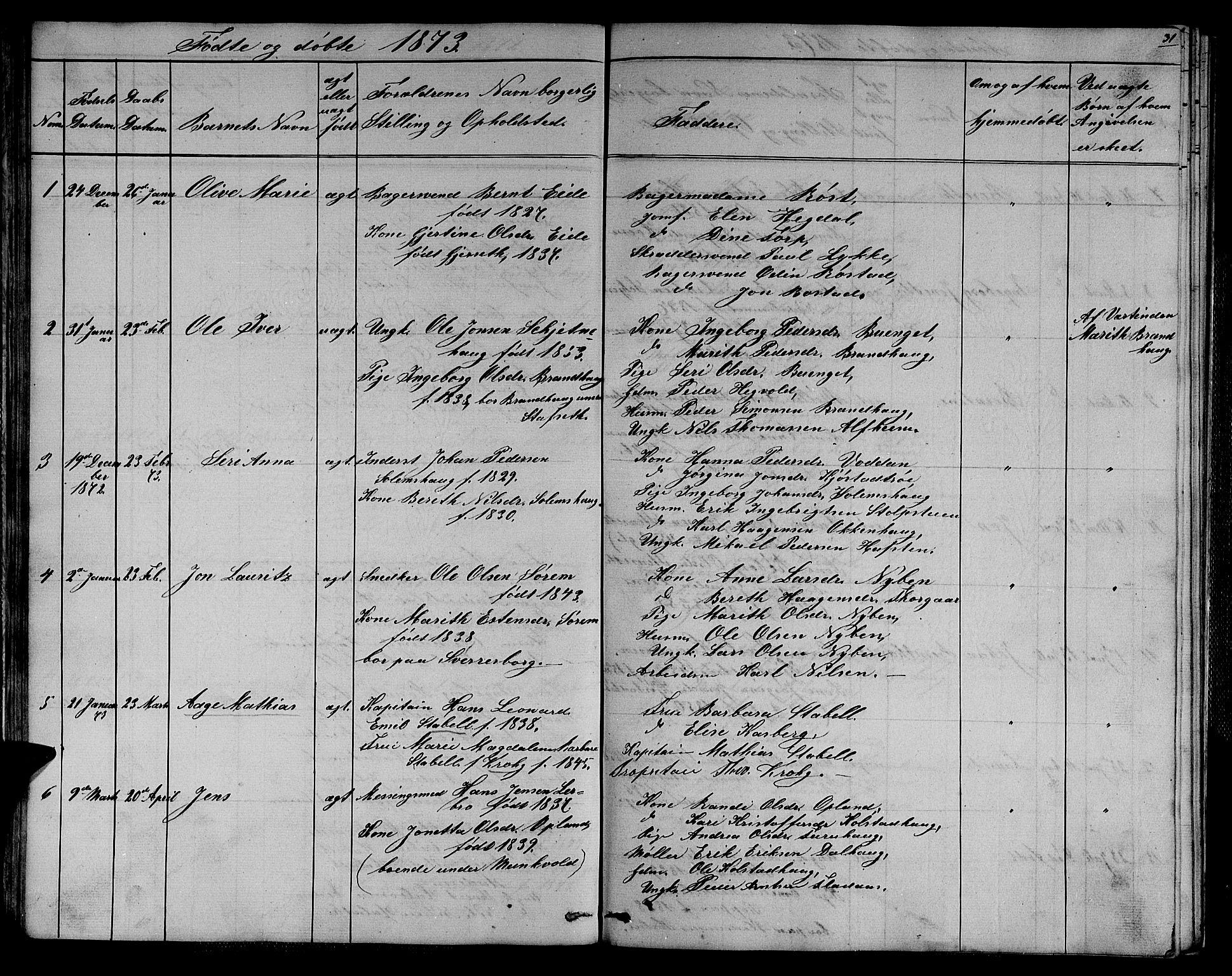SAT, Ministerialprotokoller, klokkerbøker og fødselsregistre - Sør-Trøndelag, 611/L0353: Klokkerbok nr. 611C01, 1854-1881, s. 31