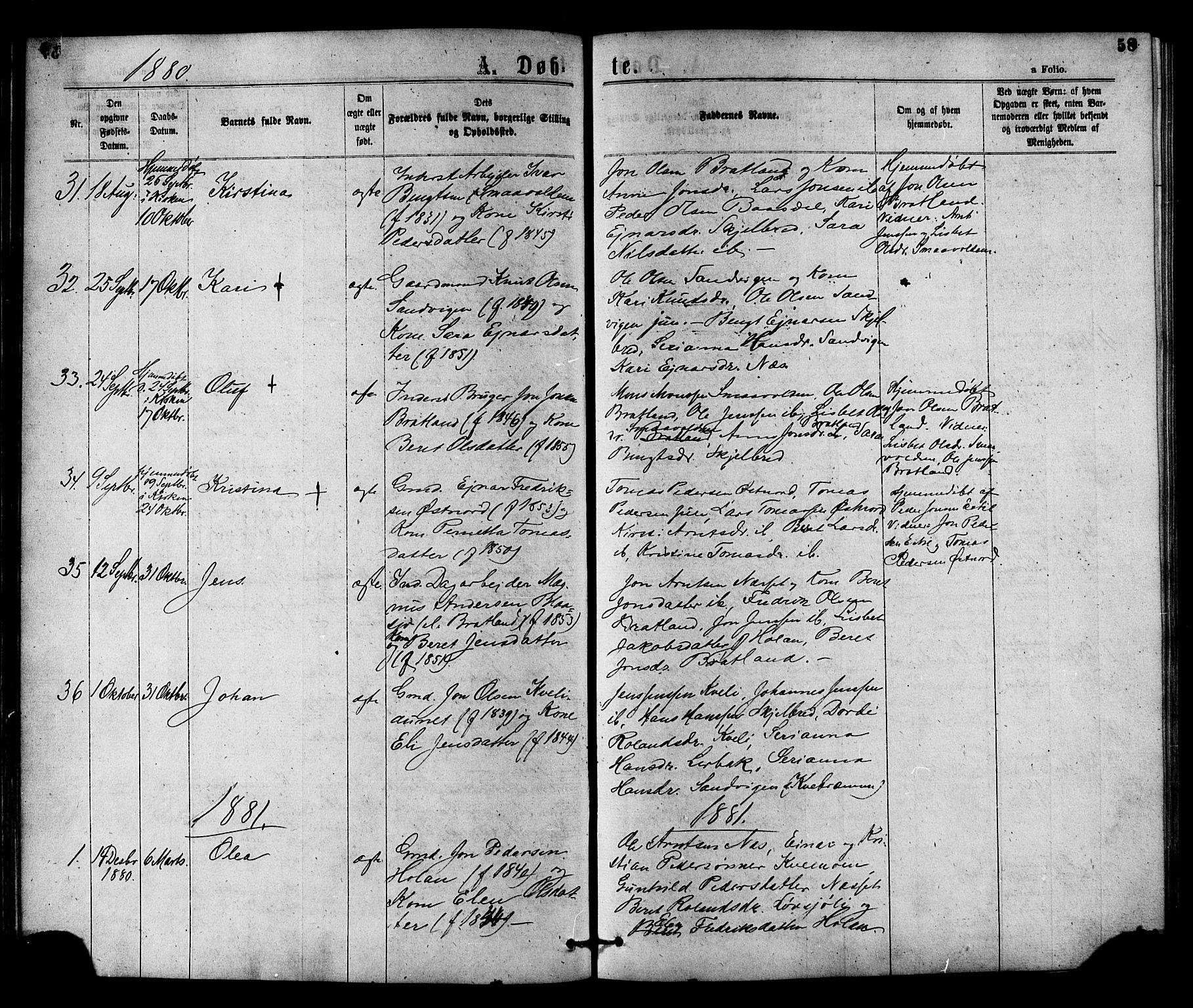 SAT, Ministerialprotokoller, klokkerbøker og fødselsregistre - Nord-Trøndelag, 755/L0493: Ministerialbok nr. 755A02, 1865-1881, s. 58