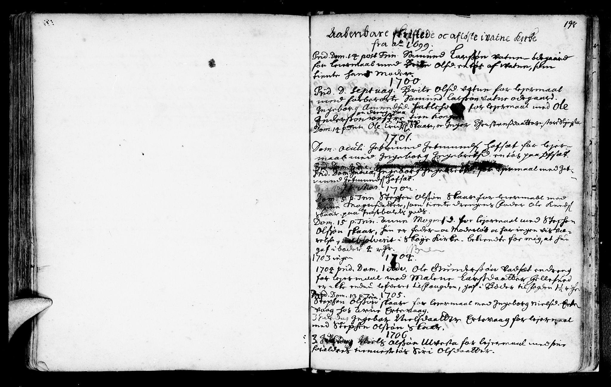 SAT, Ministerialprotokoller, klokkerbøker og fødselsregistre - Møre og Romsdal, 525/L0371: Ministerialbok nr. 525A01, 1699-1777, s. 198