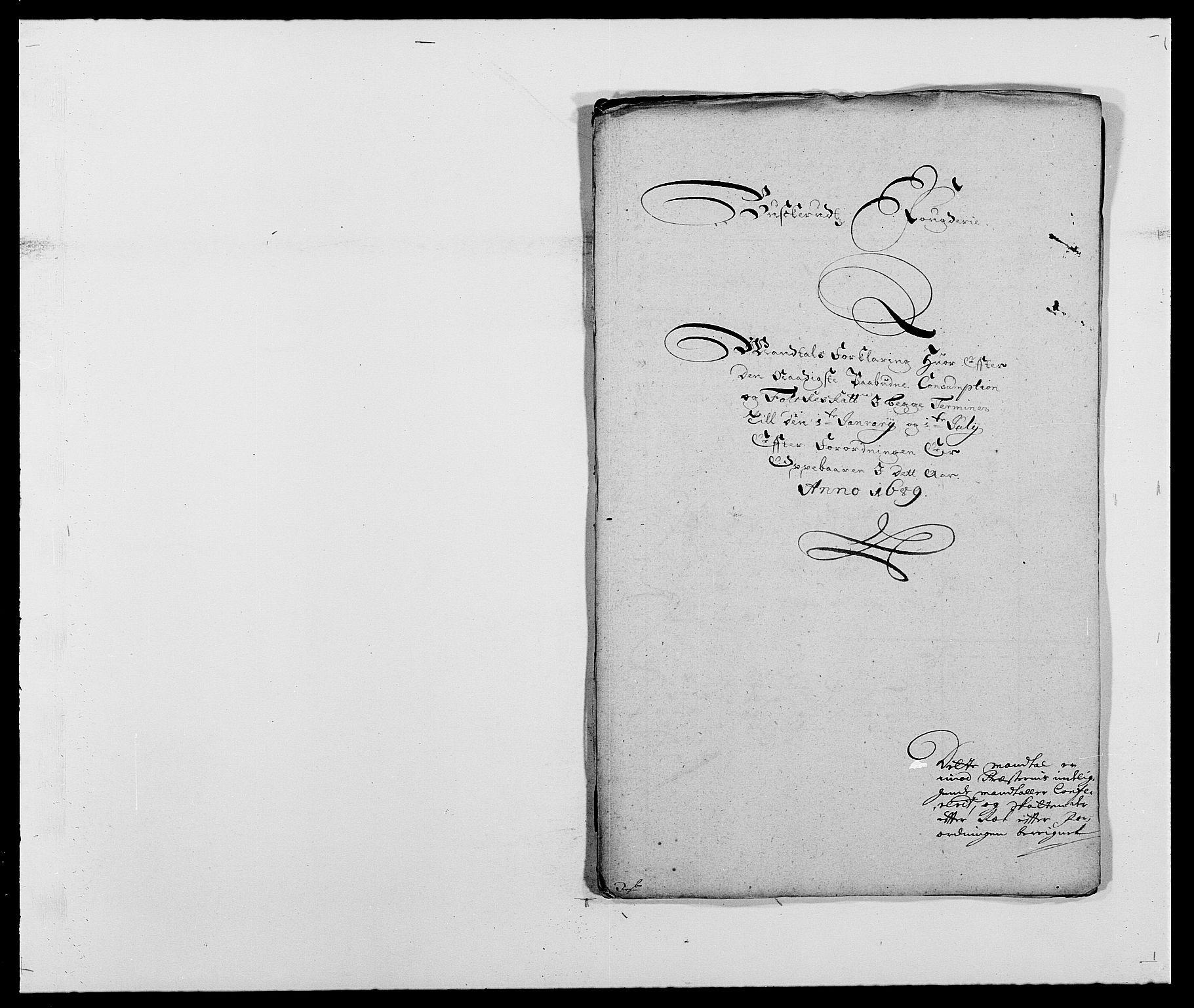 RA, Rentekammeret inntil 1814, Reviderte regnskaper, Fogderegnskap, R25/L1680: Fogderegnskap Buskerud, 1689-1690, s. 207