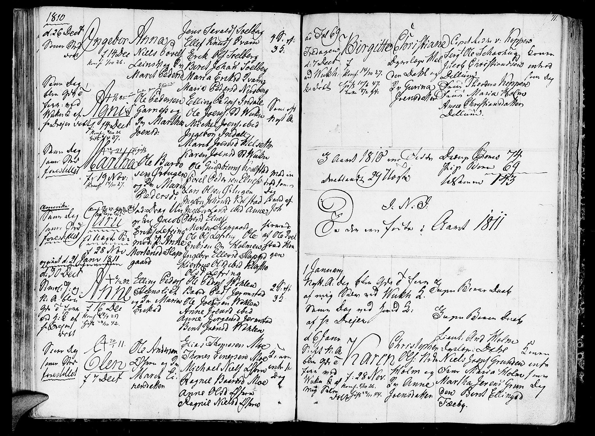 SAT, Ministerialprotokoller, klokkerbøker og fødselsregistre - Nord-Trøndelag, 723/L0233: Ministerialbok nr. 723A04, 1805-1816, s. 71