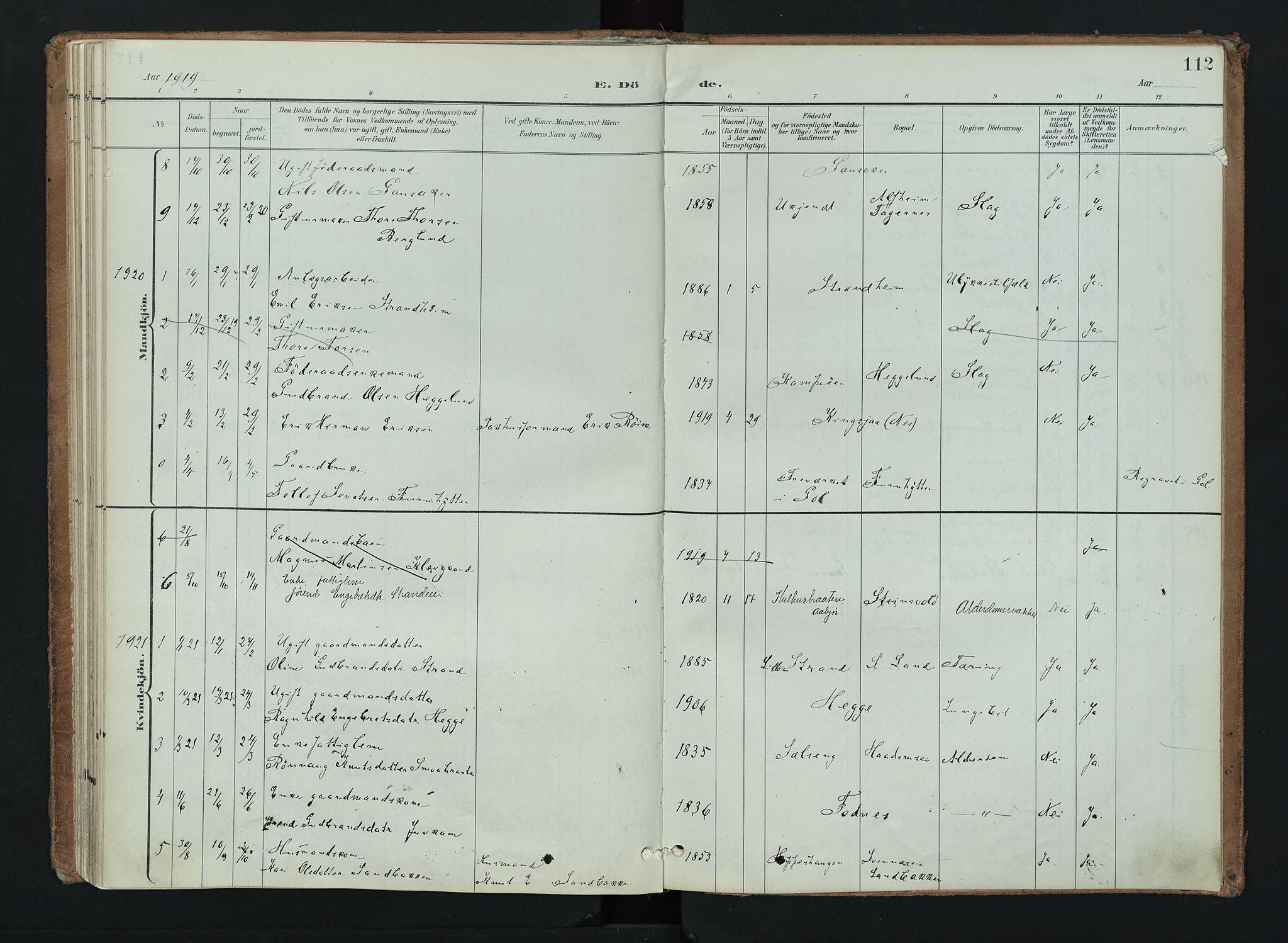 SAH, Nord-Aurdal prestekontor, Ministerialbok nr. 16, 1897-1925, s. 112