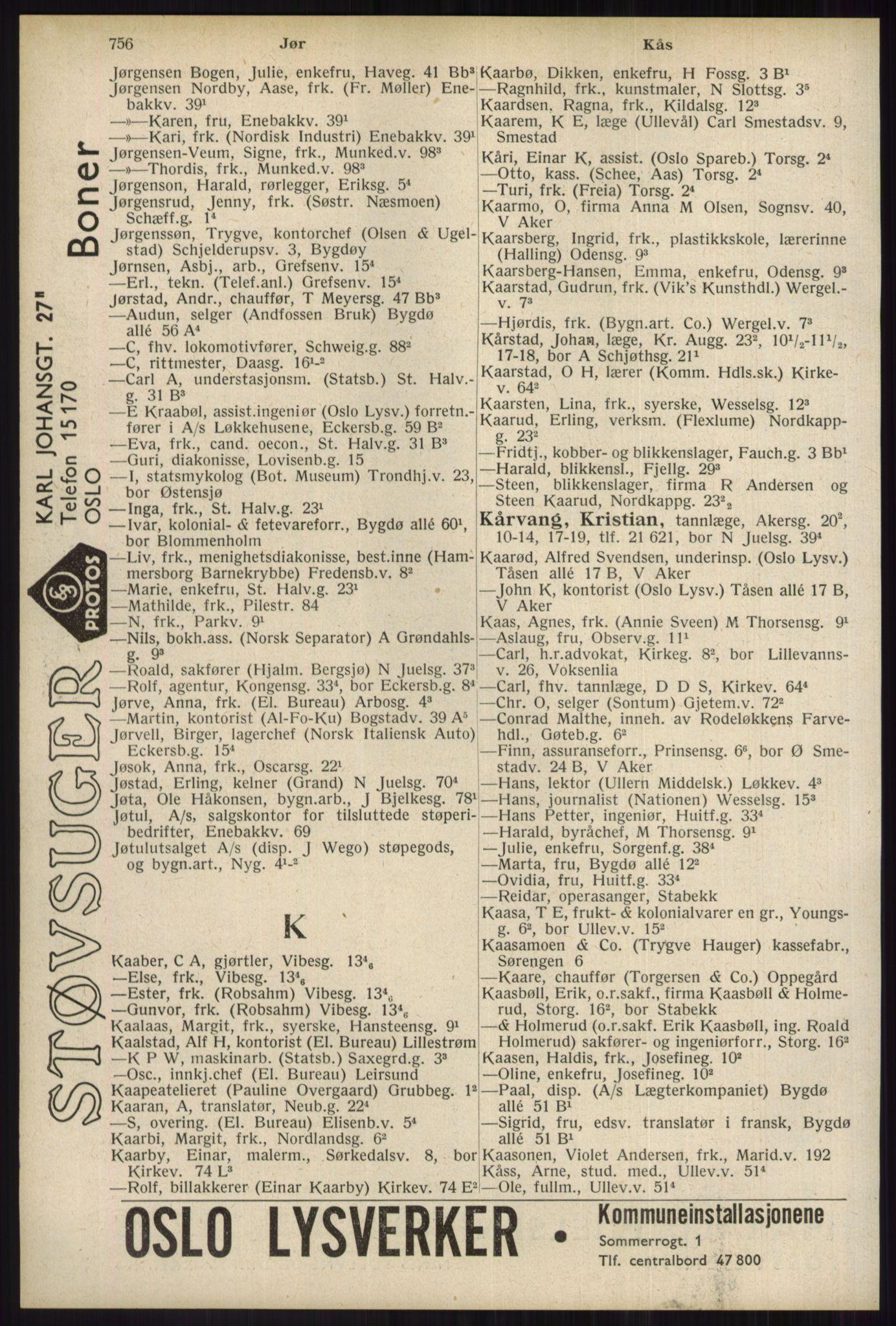 RA, Oslo adressebok (publikasjon)*, 1934, s. 756