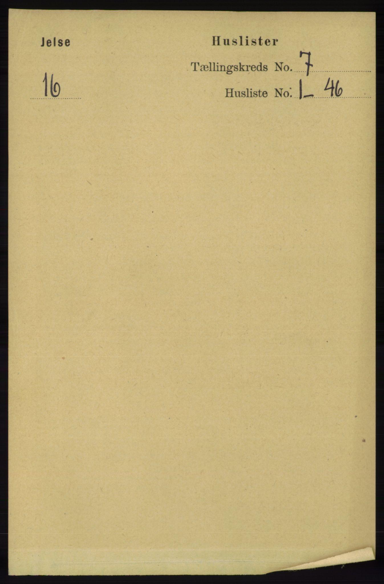 RA, Folketelling 1891 for 1138 Jelsa herred, 1891, s. 1495