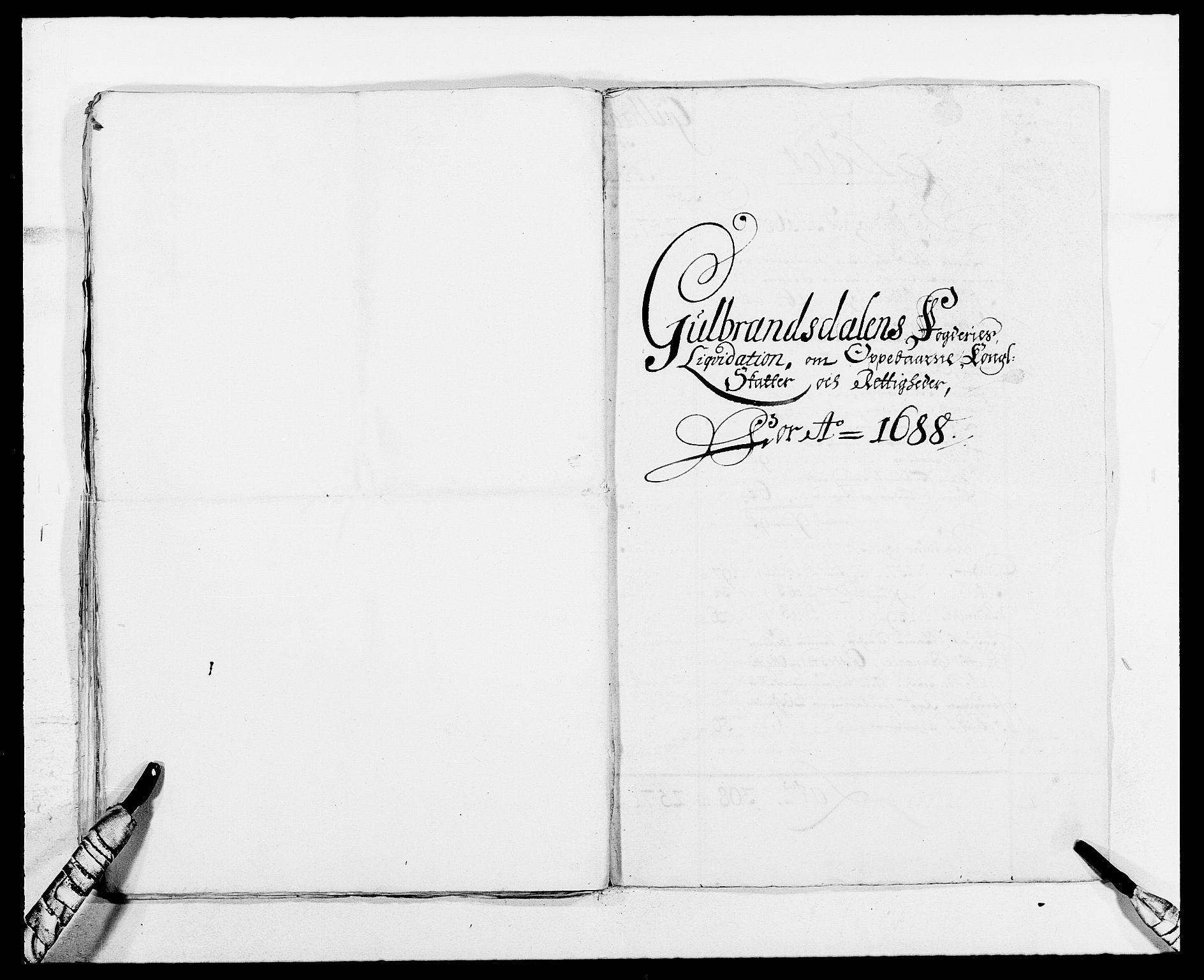 RA, Rentekammeret inntil 1814, Reviderte regnskaper, Fogderegnskap, R17/L1157: Fogderegnskap Gudbrandsdal, 1682-1689, s. 30