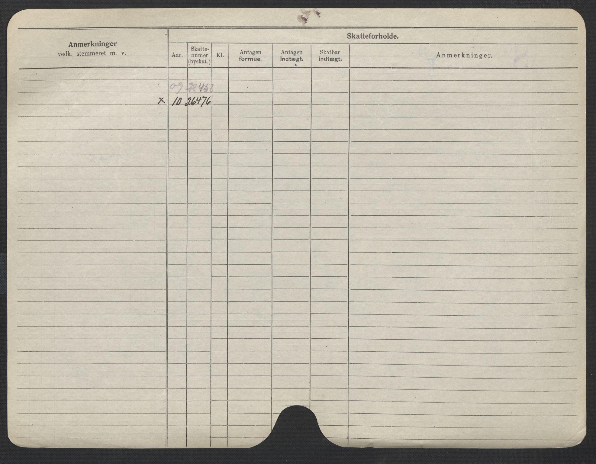SAO, Oslo folkeregister, Registerkort, F/Fa/Fac/L0011: Menn, 1906-1914, s. 651b