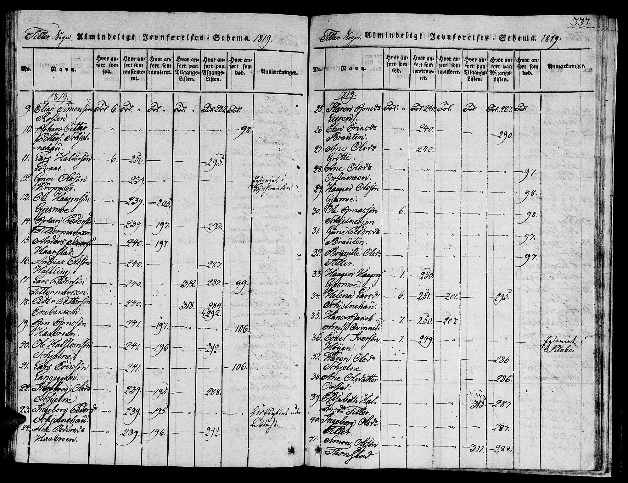 SAT, Ministerialprotokoller, klokkerbøker og fødselsregistre - Sør-Trøndelag, 621/L0458: Klokkerbok nr. 621C01, 1816-1865, s. 337