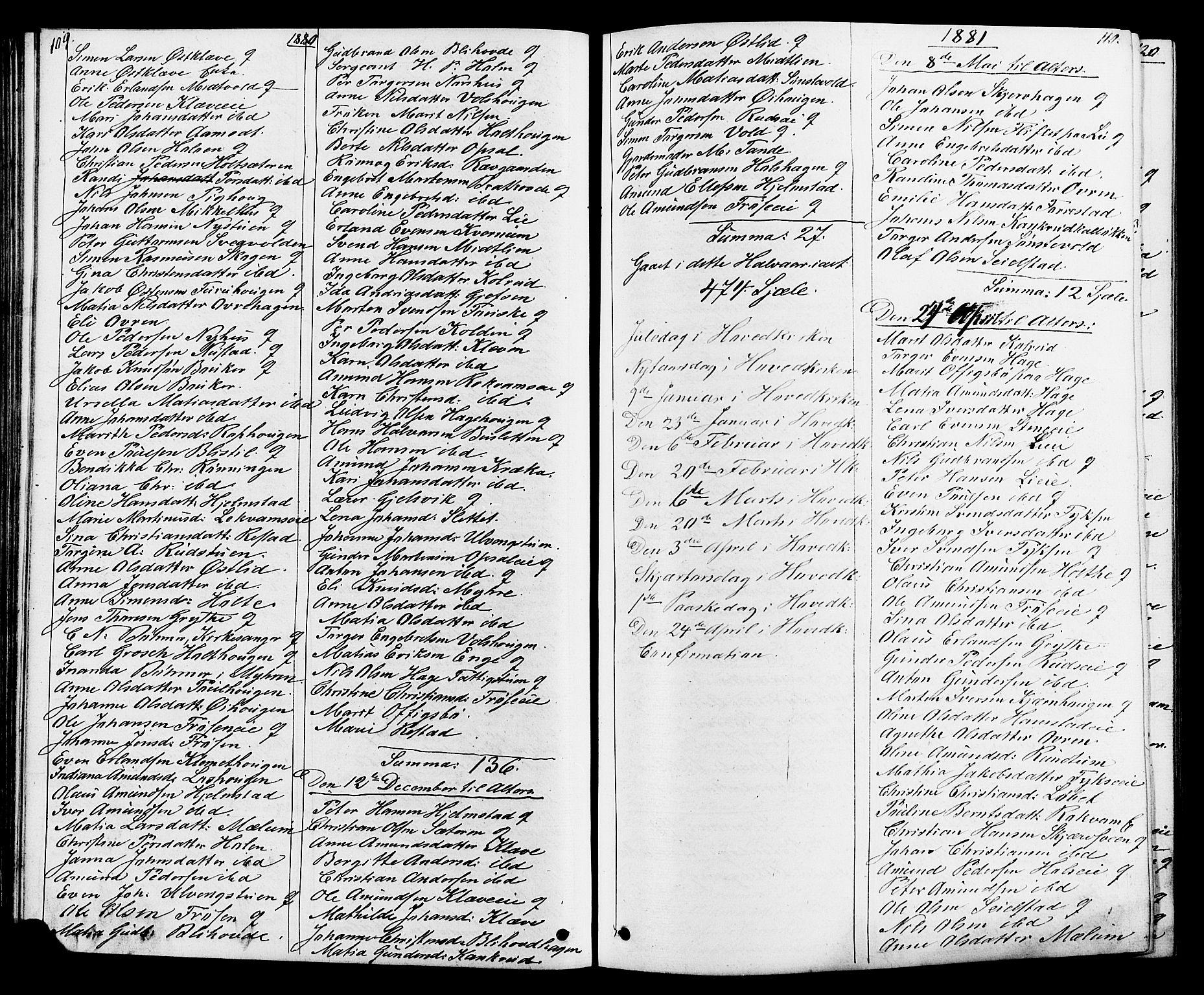 SAH, Østre Gausdal prestekontor, Klokkerbok nr. 1, 1863-1893, s. 109-110