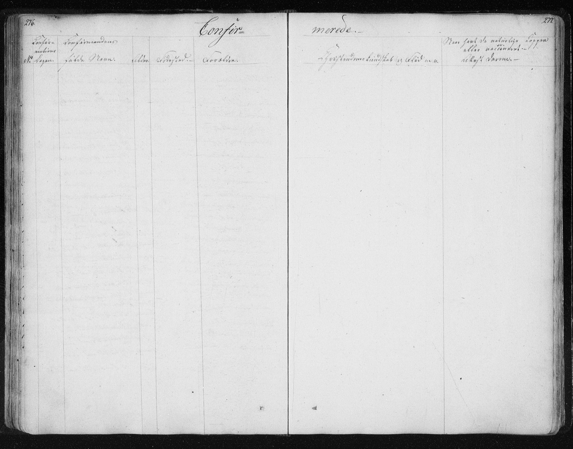 SAT, Ministerialprotokoller, klokkerbøker og fødselsregistre - Nord-Trøndelag, 730/L0276: Ministerialbok nr. 730A05, 1822-1830, s. 276-277