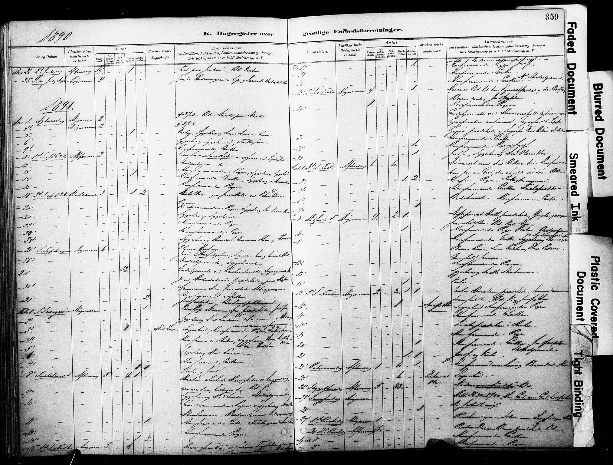 SAKO, Horten kirkebøker, F/Fa/L0004: Ministerialbok nr. 4, 1888-1895, s. 359