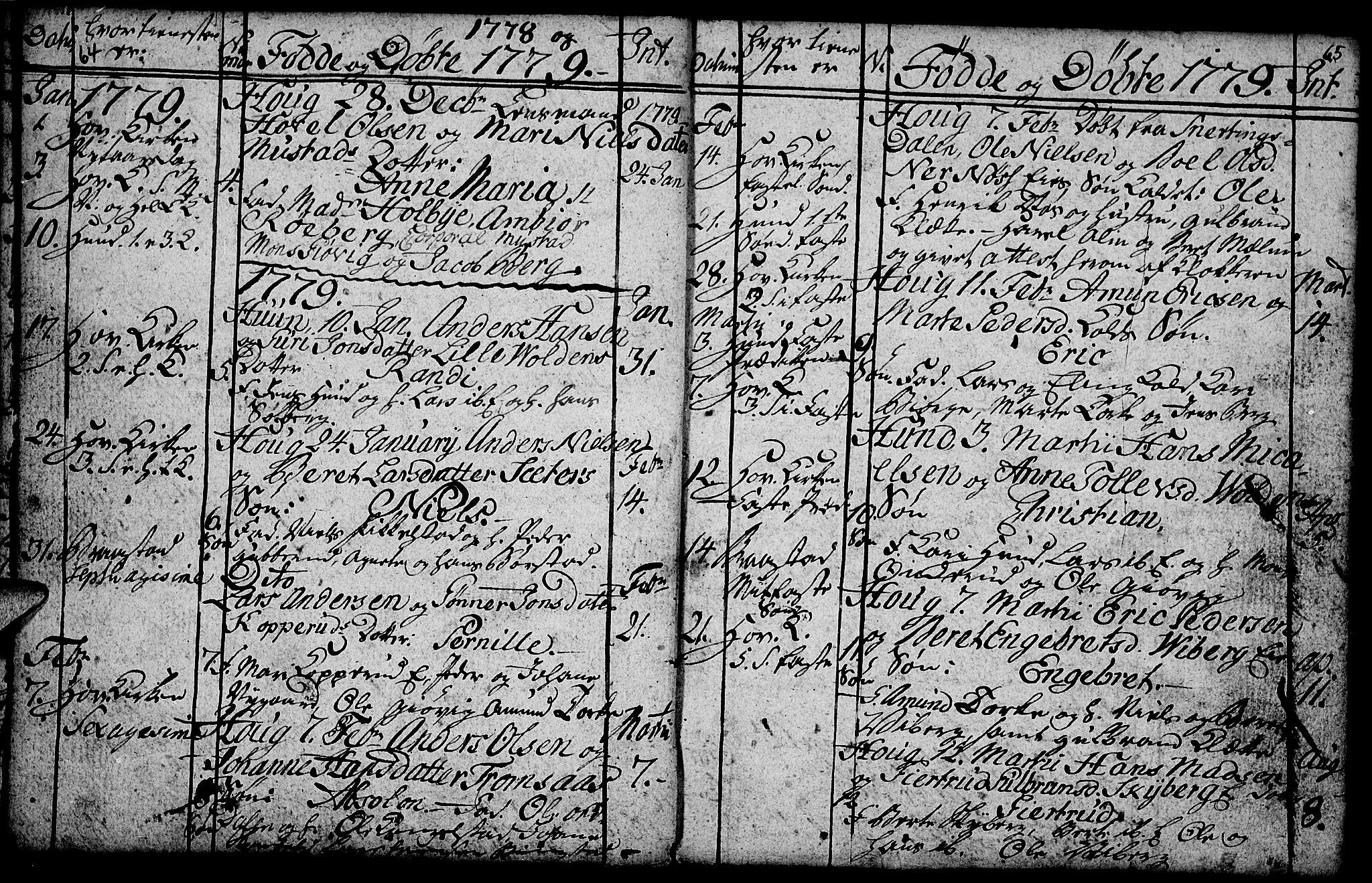 SAH, Vardal prestekontor, H/Ha/Hab/L0001: Klokkerbok nr. 1, 1771-1790, s. 64-65