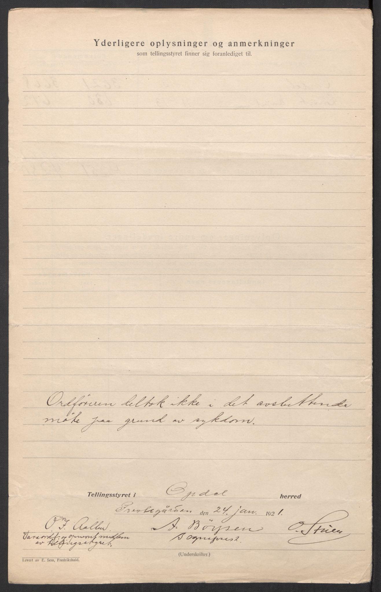 SAT, Folketelling 1920 for 1634 Oppdal herred, 1920, s. 5