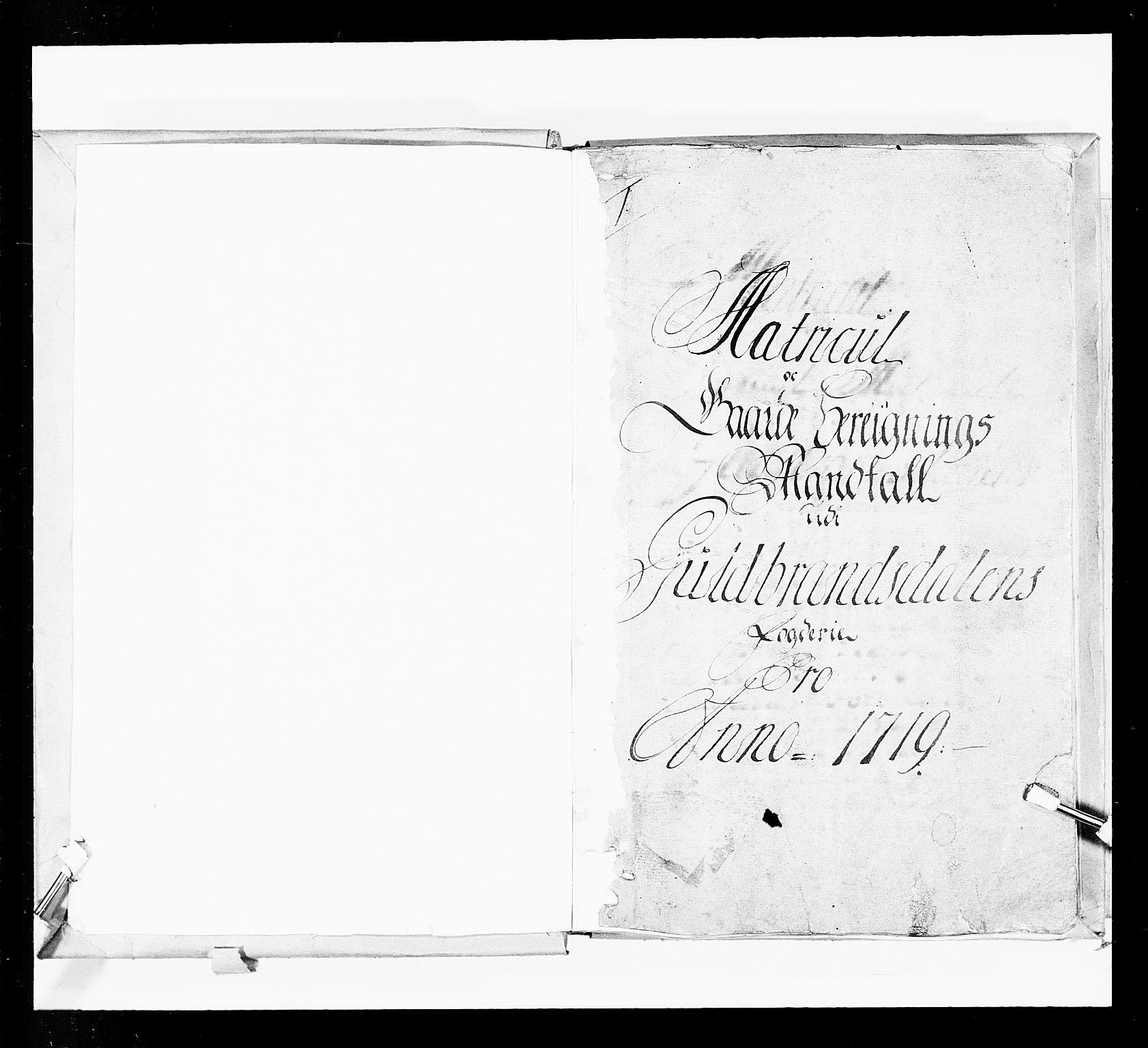 RA, Stattholderembetet 1572-1771, Ek/L0036: Jordebøker 1662-1720:, 1719, s. upaginert