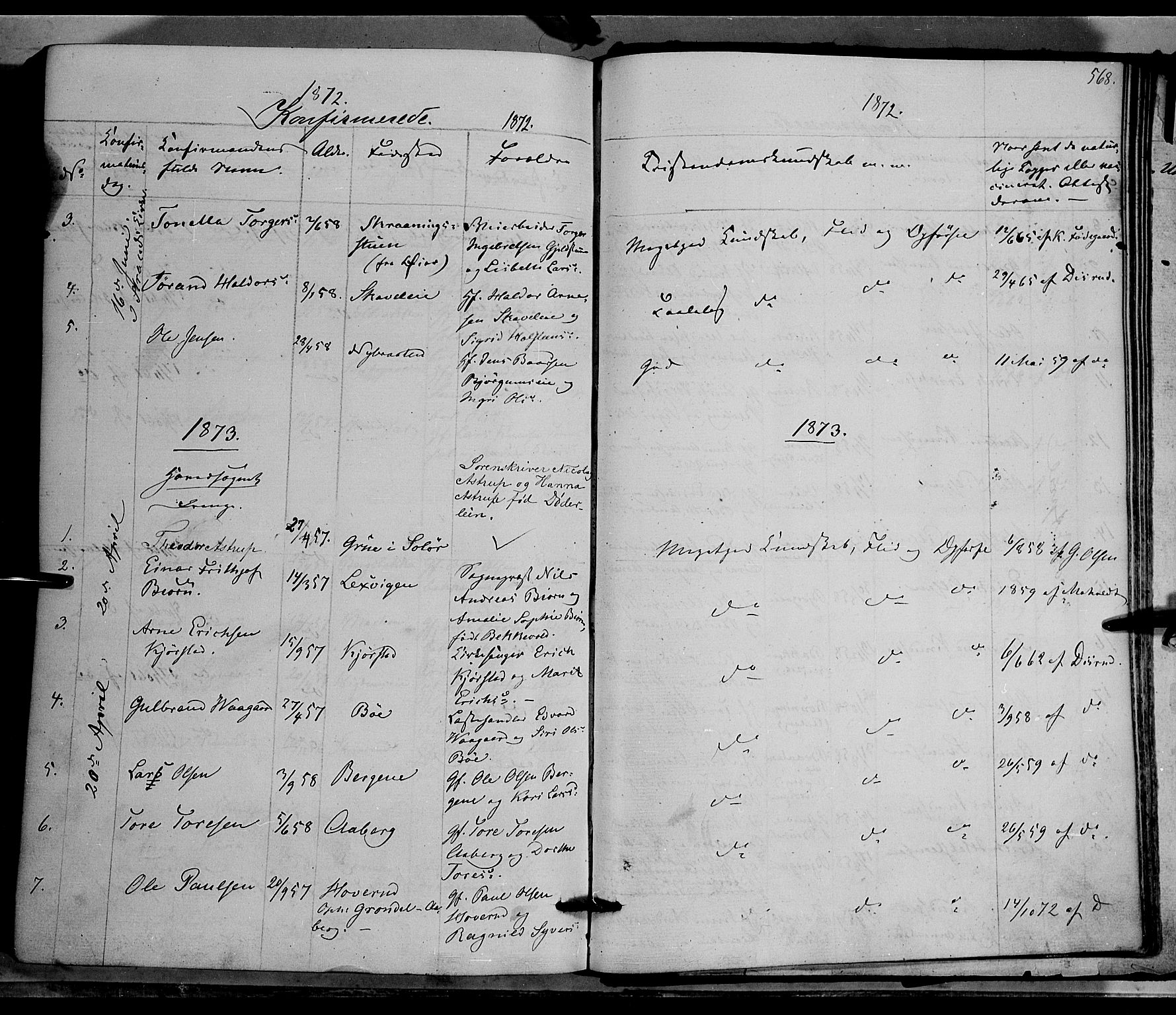 SAH, Nord-Aurdal prestekontor, Ministerialbok nr. 8, 1863-1875, s. 568