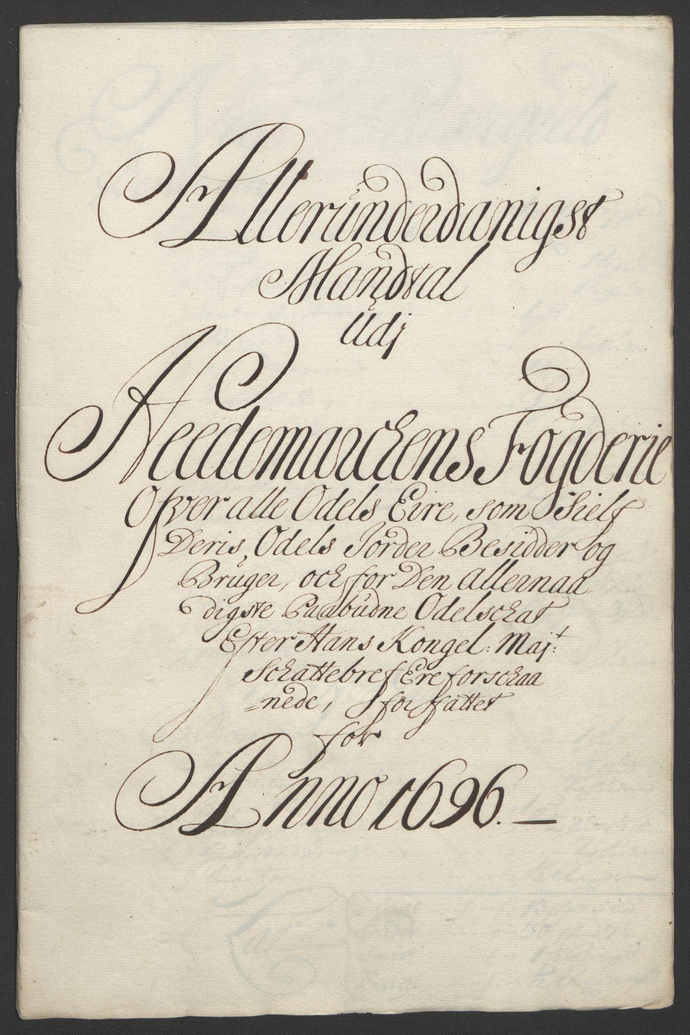 RA, Rentekammeret inntil 1814, Reviderte regnskaper, Fogderegnskap, R16/L1036: Fogderegnskap Hedmark, 1695-1696, s. 404