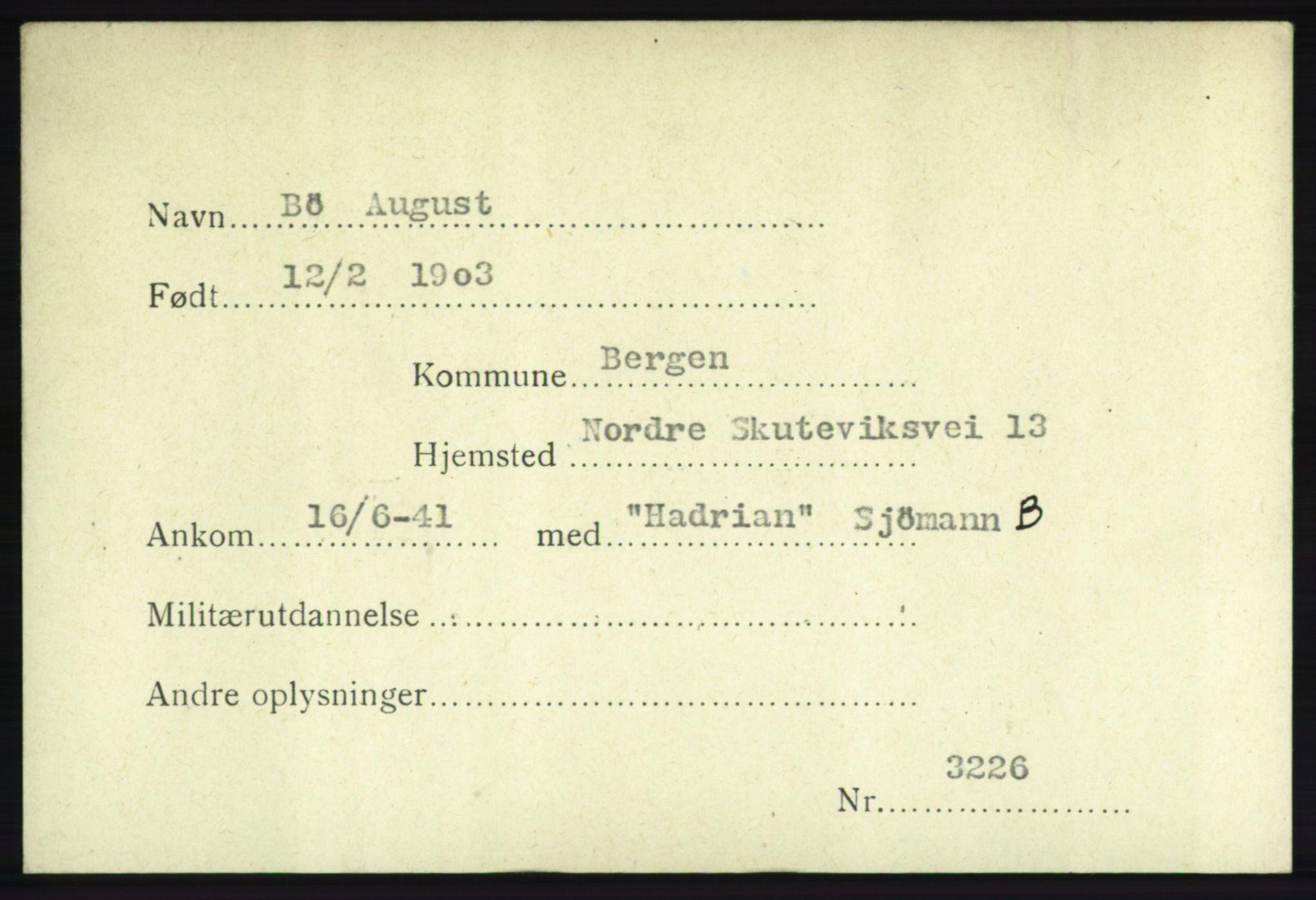 NHM, Forsvarets Overkommando. 2. kontor. Arkiv 8.1. Mottakersentralen FDE og FO.II, P/Pa/L0004: Kortsamling, 1940-1945, s. 1