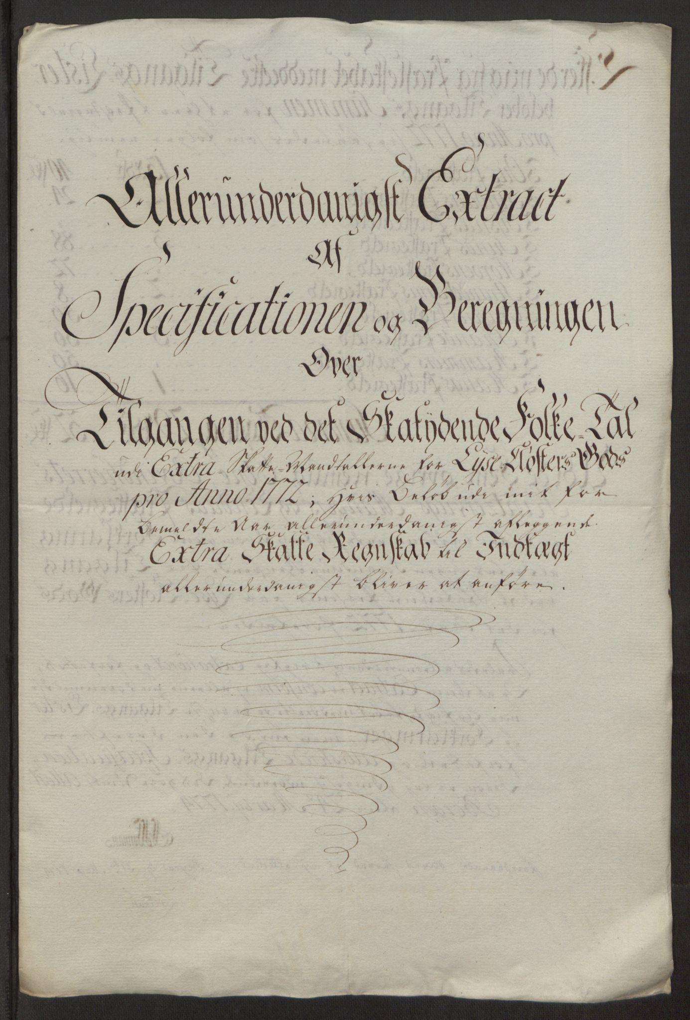RA, Rentekammeret inntil 1814, Reviderte regnskaper, Fogderegnskap, R50/L3180: Ekstraskatten Lyse kloster, 1762-1783, s. 273
