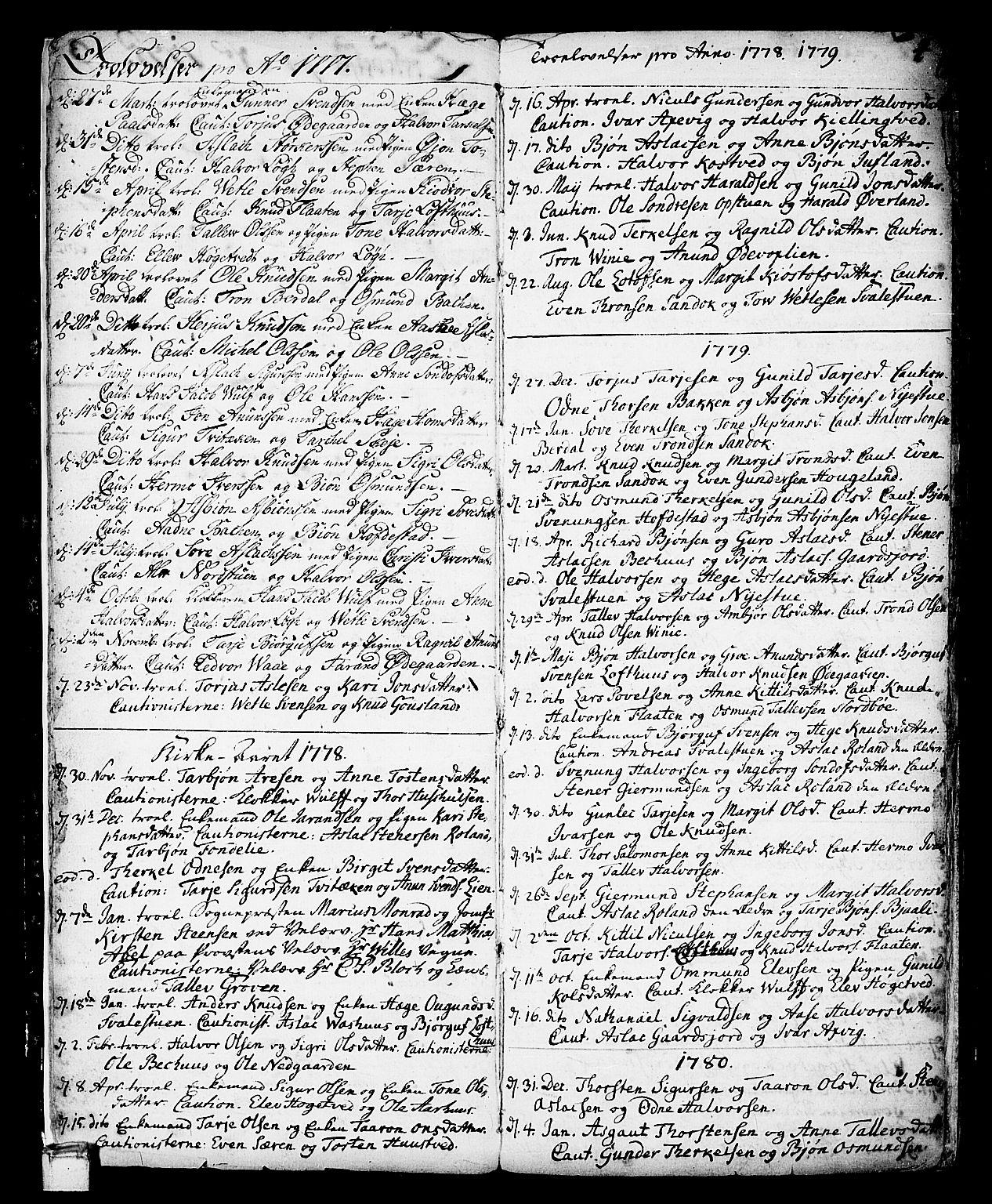 SAKO, Vinje kirkebøker, F/Fa/L0002: Ministerialbok nr. I 2, 1767-1814, s. 4