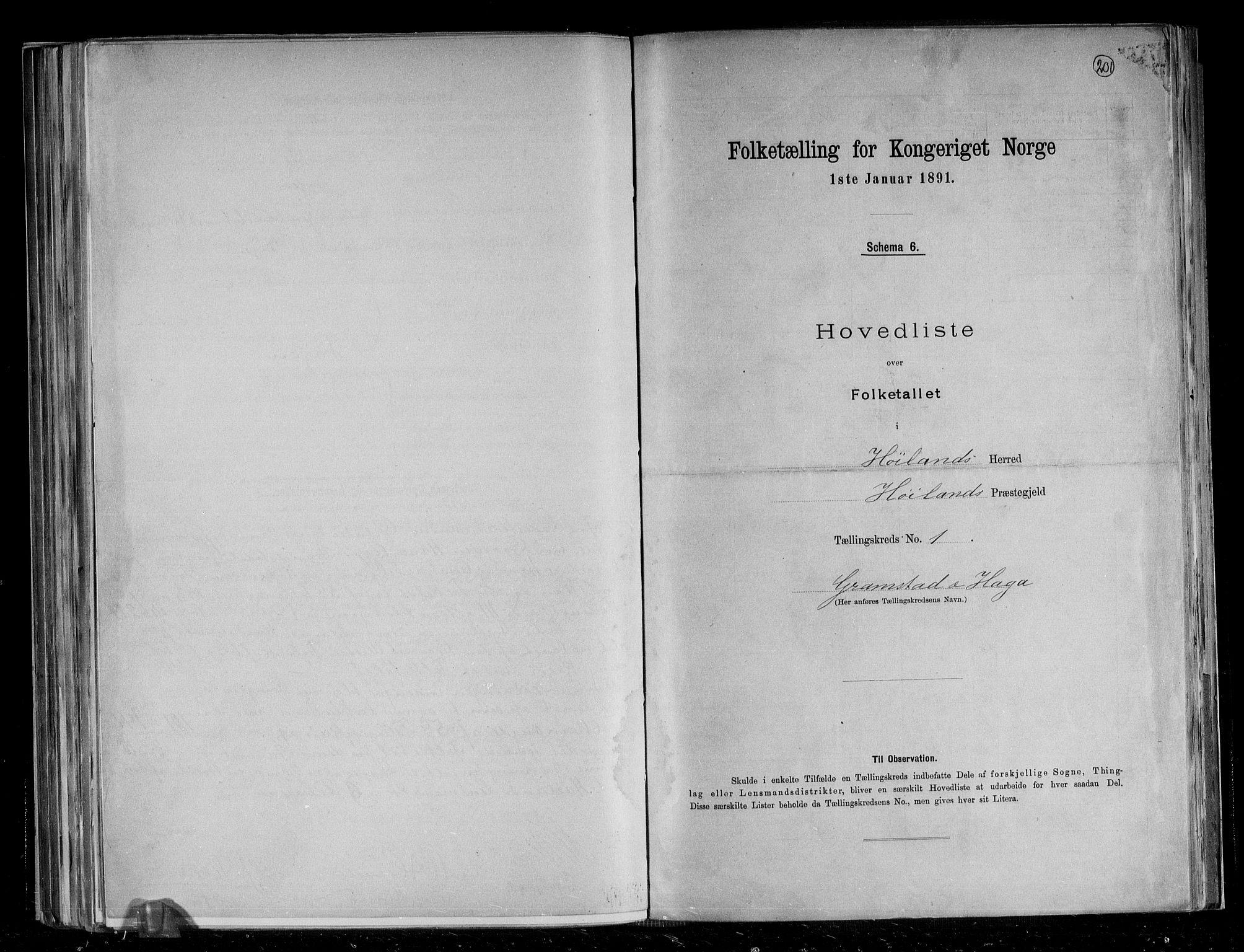 RA, Folketelling 1891 for 1123 Høyland herred, 1891, s. 4