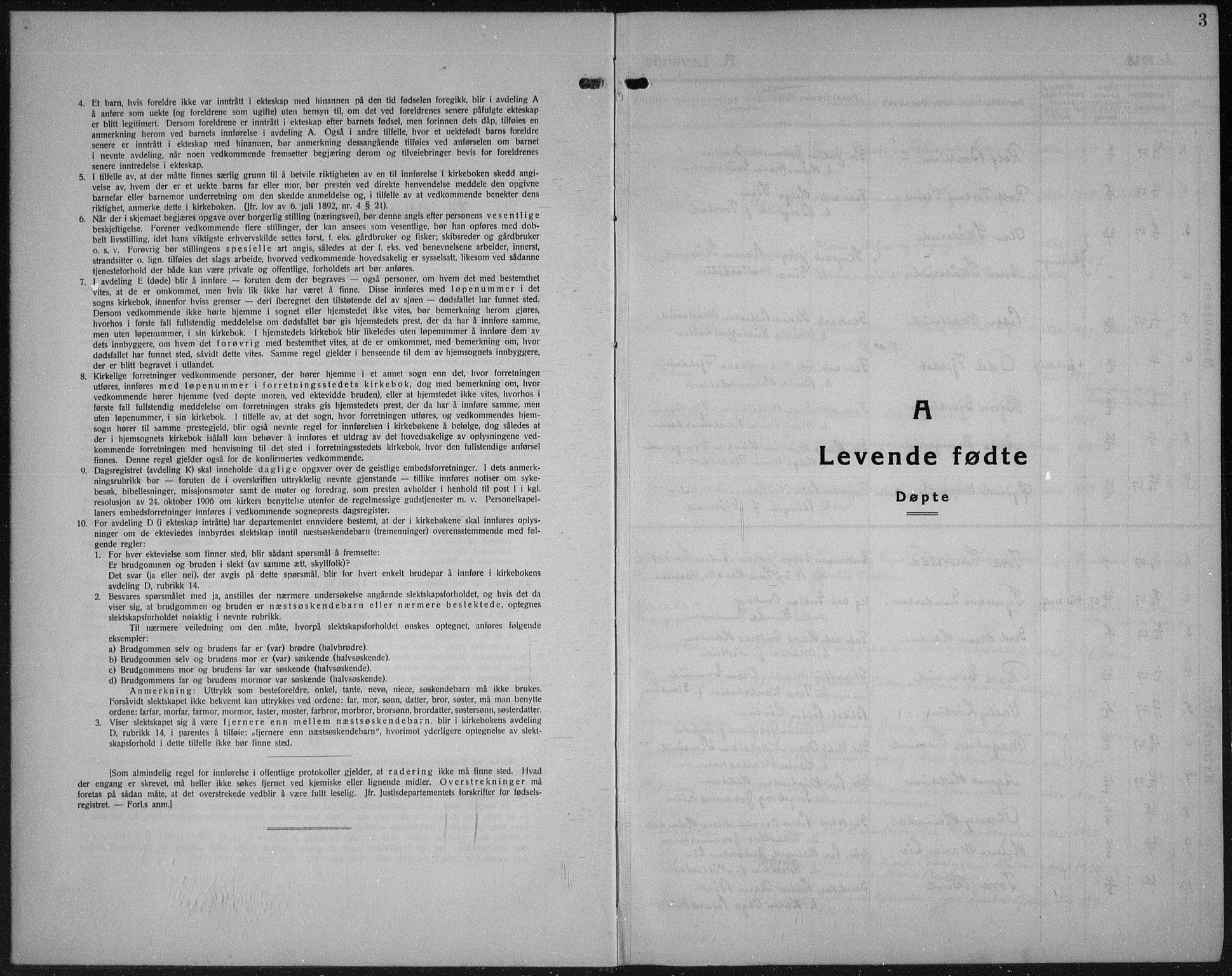 SAH, Vestre Toten prestekontor, Klokkerbok nr. 18, 1928-1941, s. 3