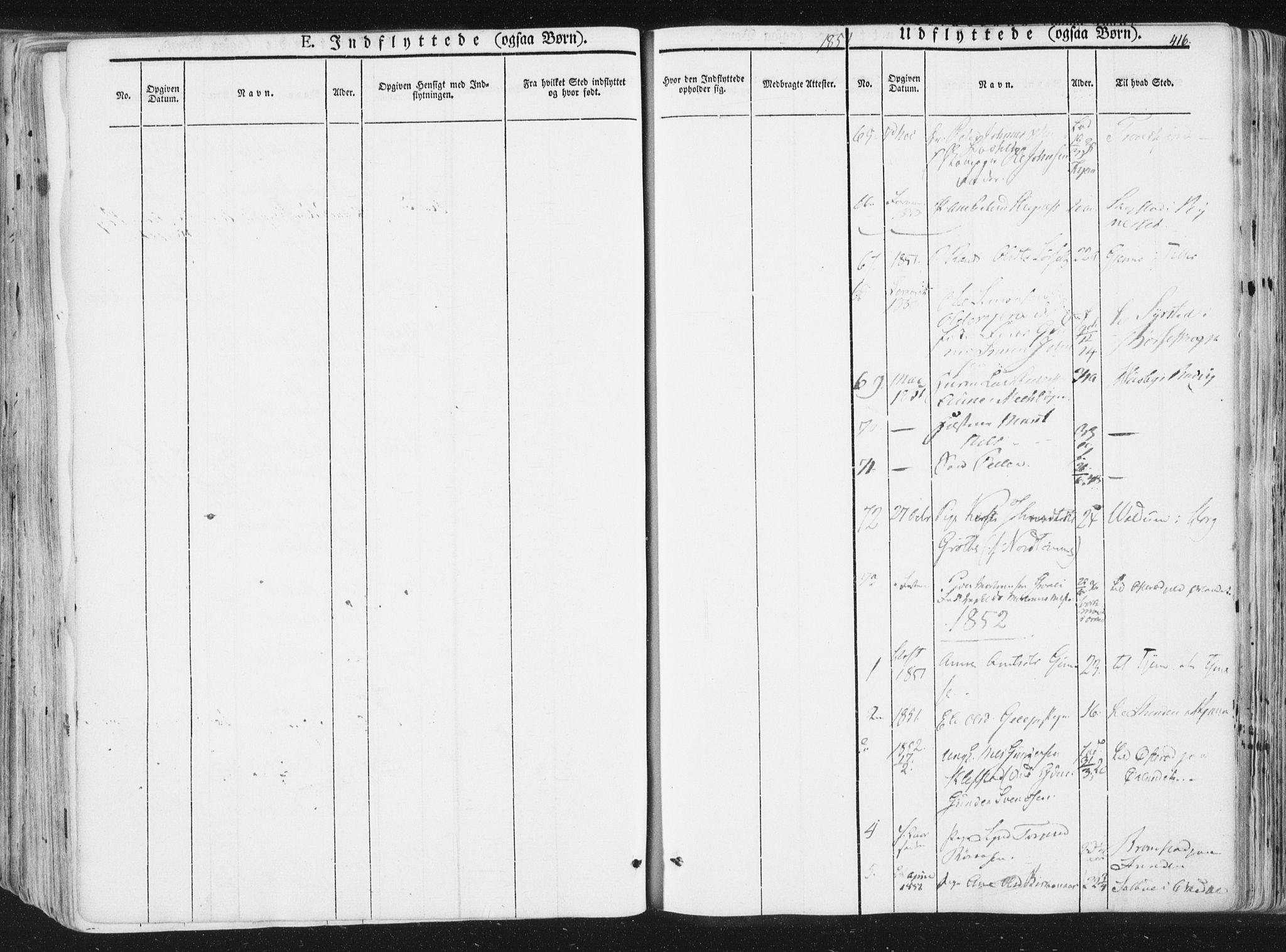 SAT, Ministerialprotokoller, klokkerbøker og fødselsregistre - Sør-Trøndelag, 691/L1074: Ministerialbok nr. 691A06, 1842-1852, s. 416