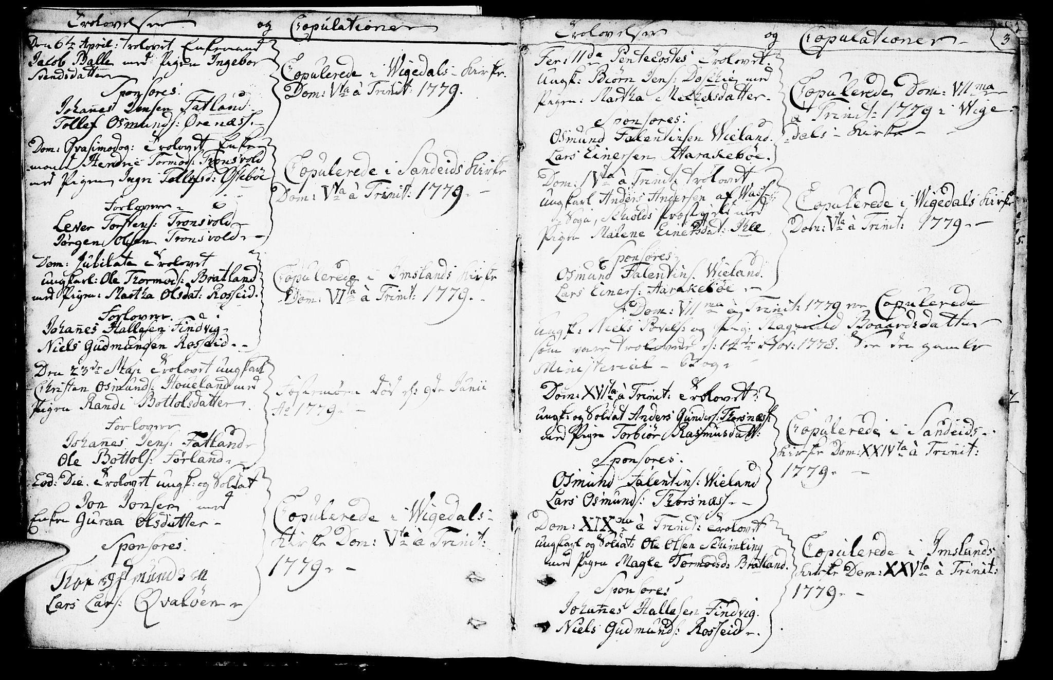 SAST, Vikedal sokneprestkontor, IV: Ministerialbok nr. A 2, 1779-1817, s. 3