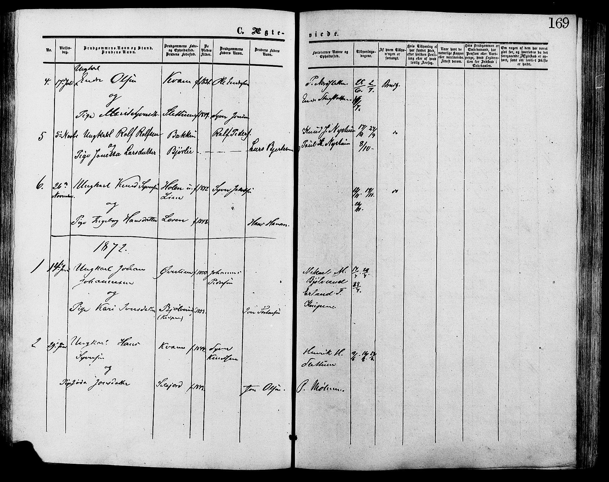 SAH, Lesja prestekontor, Ministerialbok nr. 9, 1854-1889, s. 169