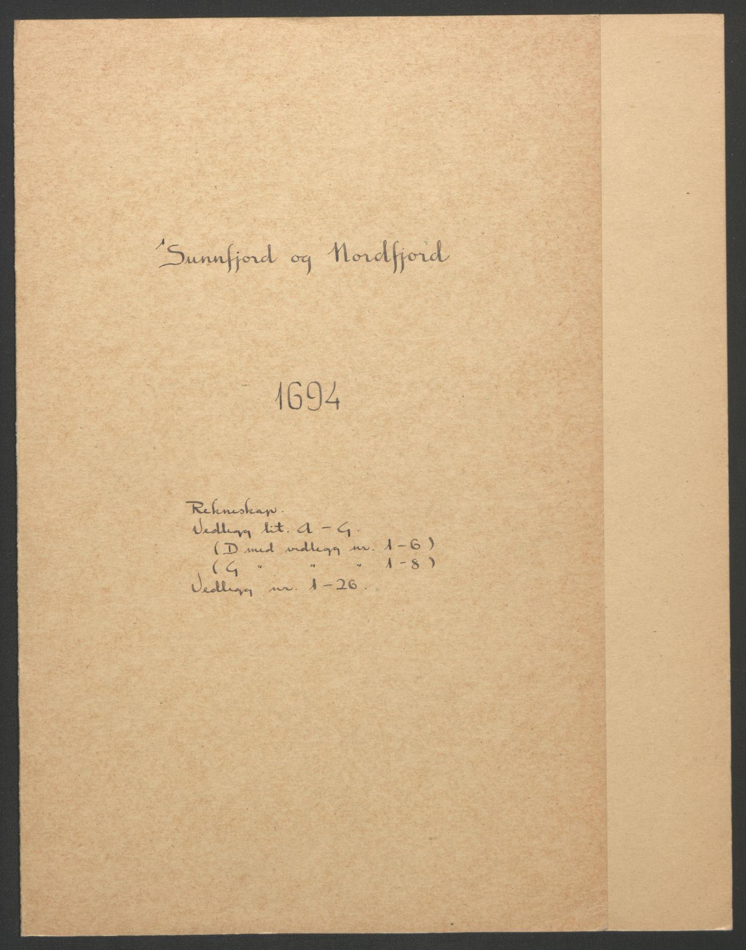 RA, Rentekammeret inntil 1814, Reviderte regnskaper, Fogderegnskap, R53/L3421: Fogderegnskap Sunn- og Nordfjord, 1693-1694, s. 248
