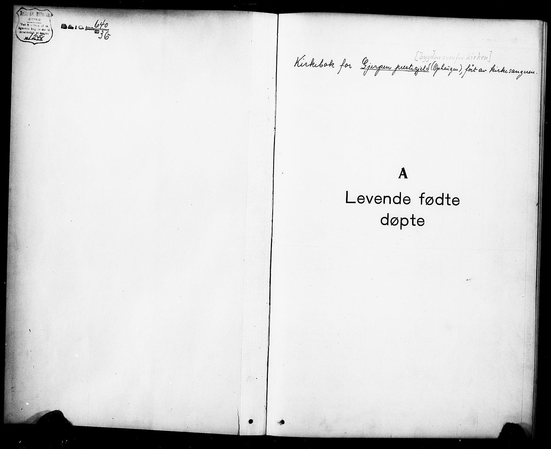 SAKO, Gjerpen kirkebøker, G/Ga/L0004: Klokkerbok nr. I 4, 1920-1931