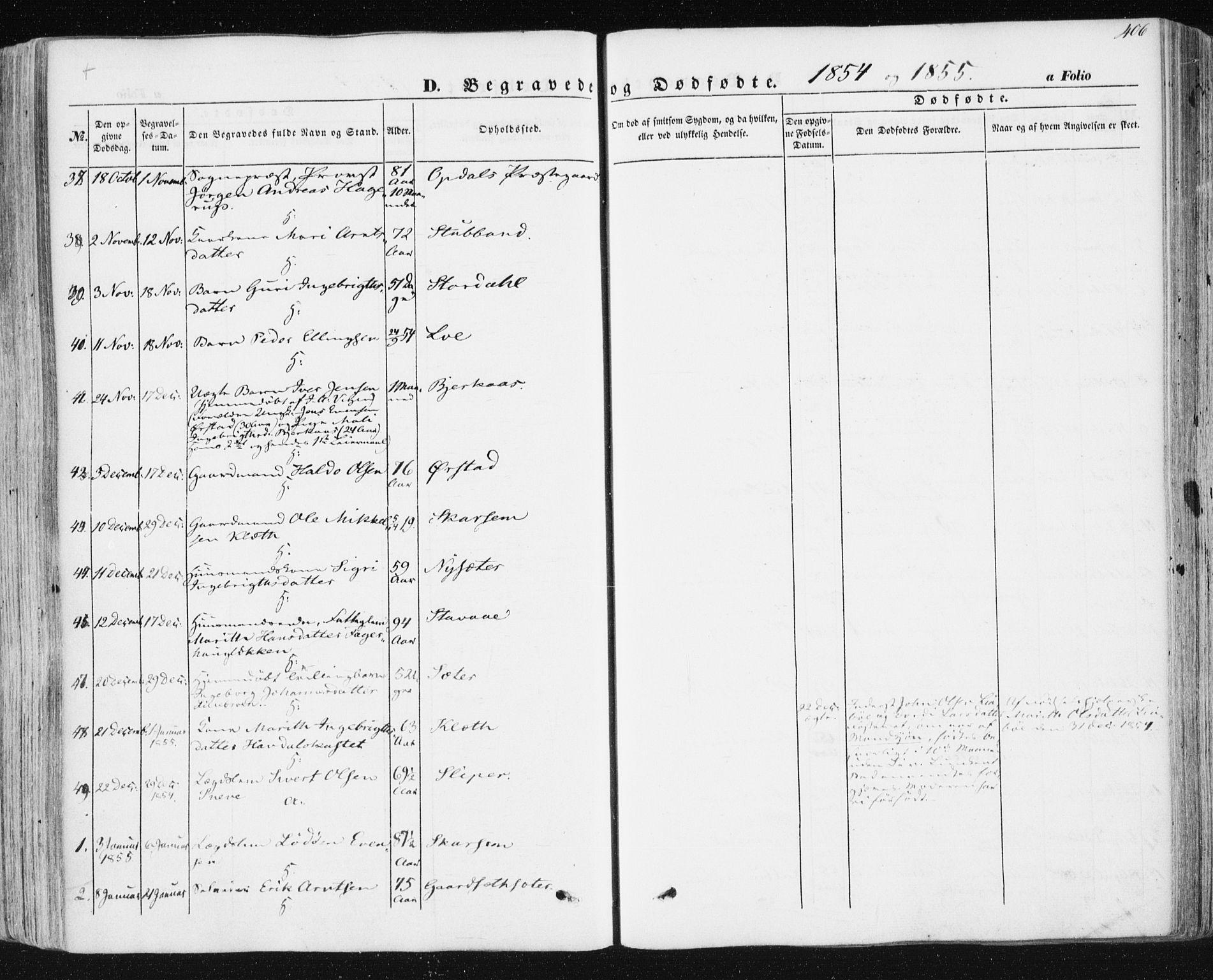 SAT, Ministerialprotokoller, klokkerbøker og fødselsregistre - Sør-Trøndelag, 678/L0899: Ministerialbok nr. 678A08, 1848-1872, s. 406