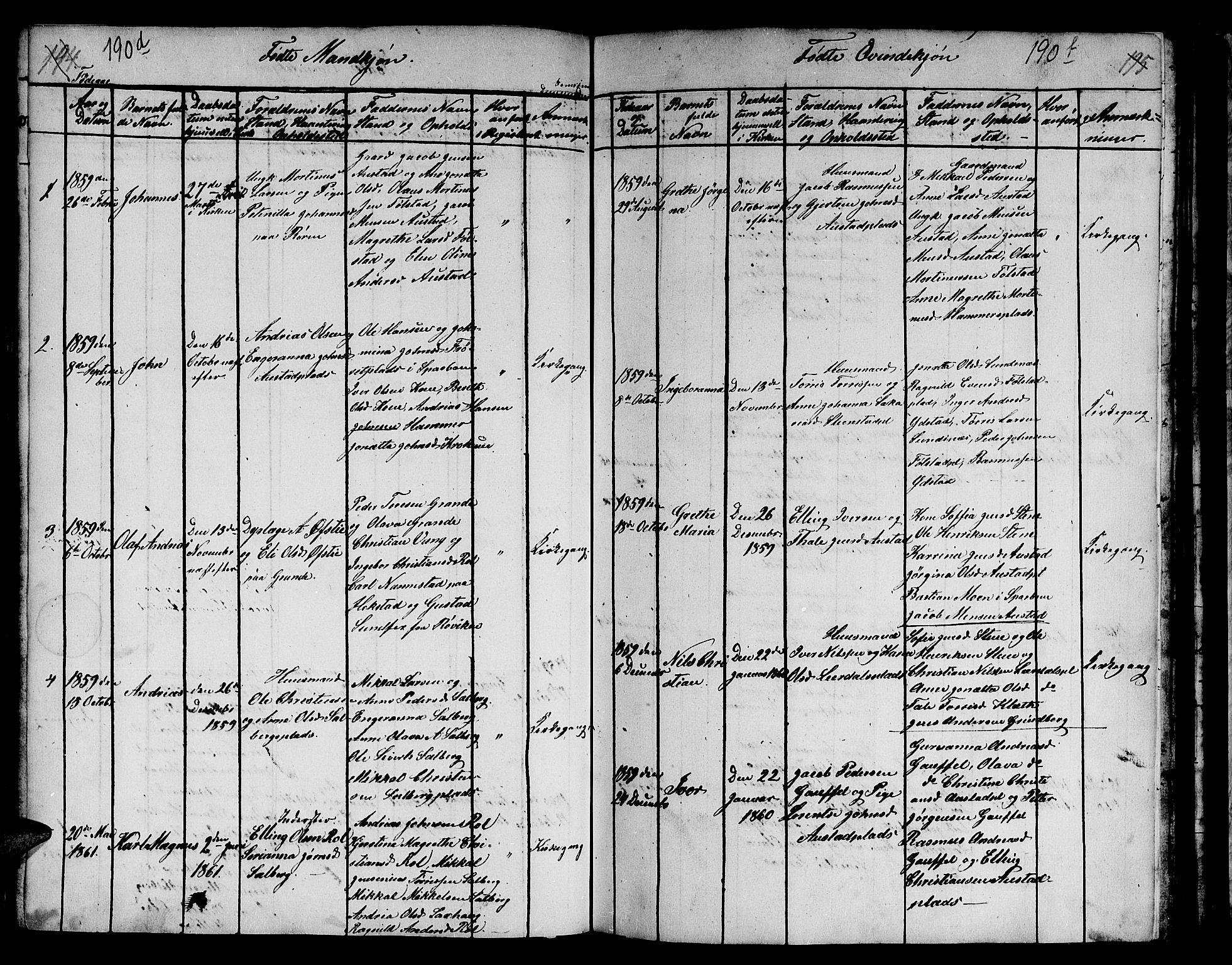 SAT, Ministerialprotokoller, klokkerbøker og fødselsregistre - Nord-Trøndelag, 731/L0310: Klokkerbok nr. 731C01, 1816-1874, s. 190e-190f