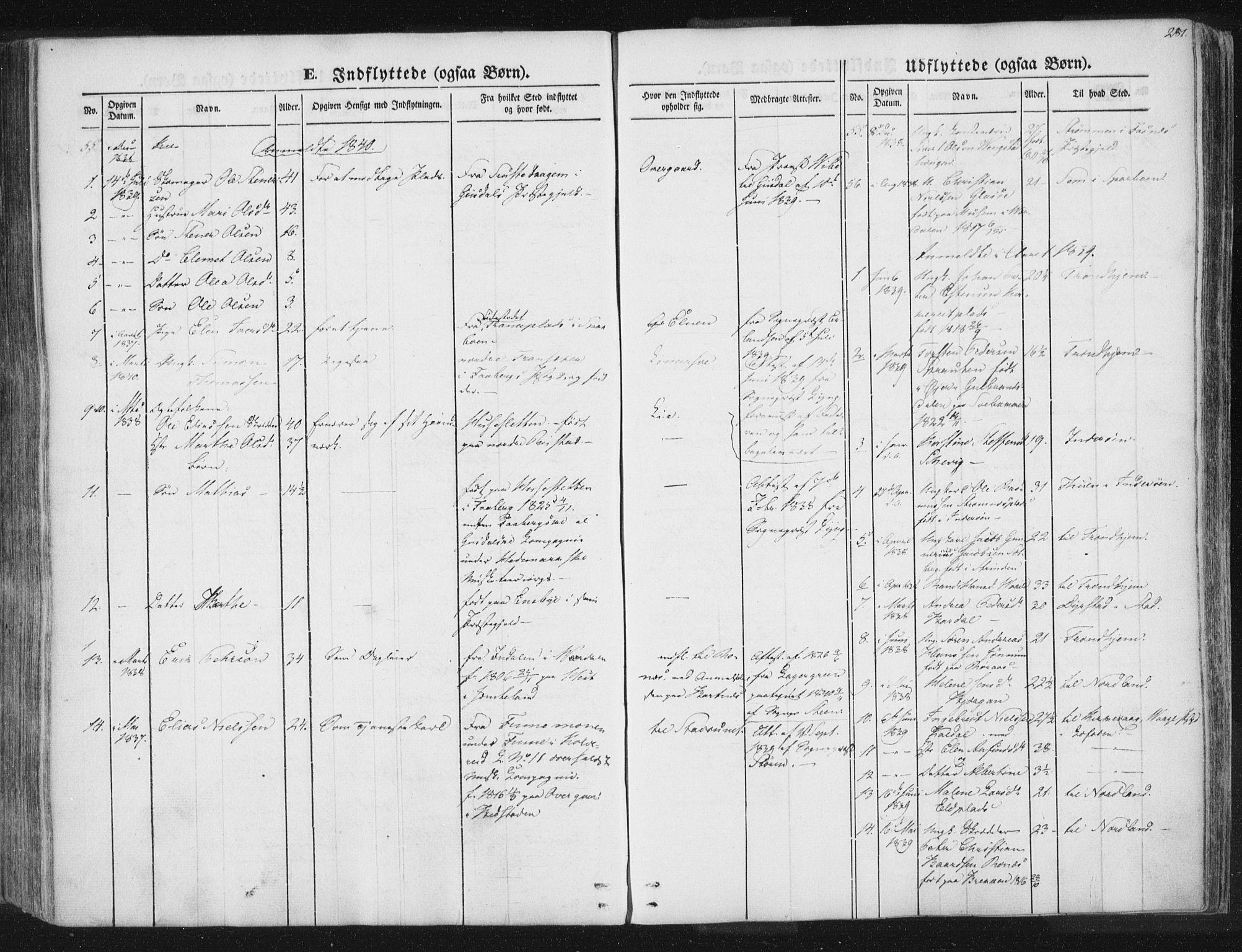 SAT, Ministerialprotokoller, klokkerbøker og fødselsregistre - Nord-Trøndelag, 741/L0392: Ministerialbok nr. 741A06, 1836-1848, s. 281
