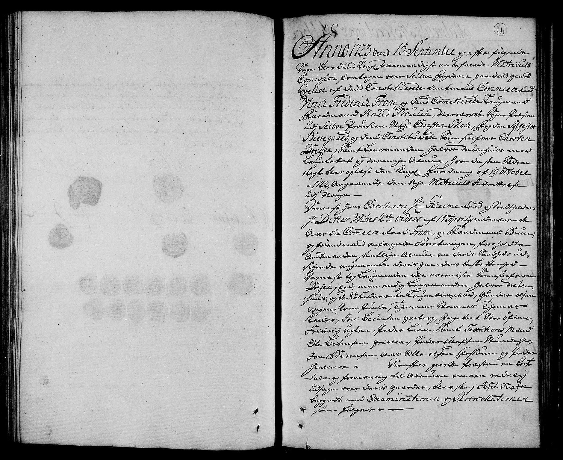 RA, Rentekammeret inntil 1814, Realistisk ordnet avdeling, N/Nb/Nbf/L0160: Strinda og Selbu eksaminasjonsprotokoll, 1723, s. 120b-121a