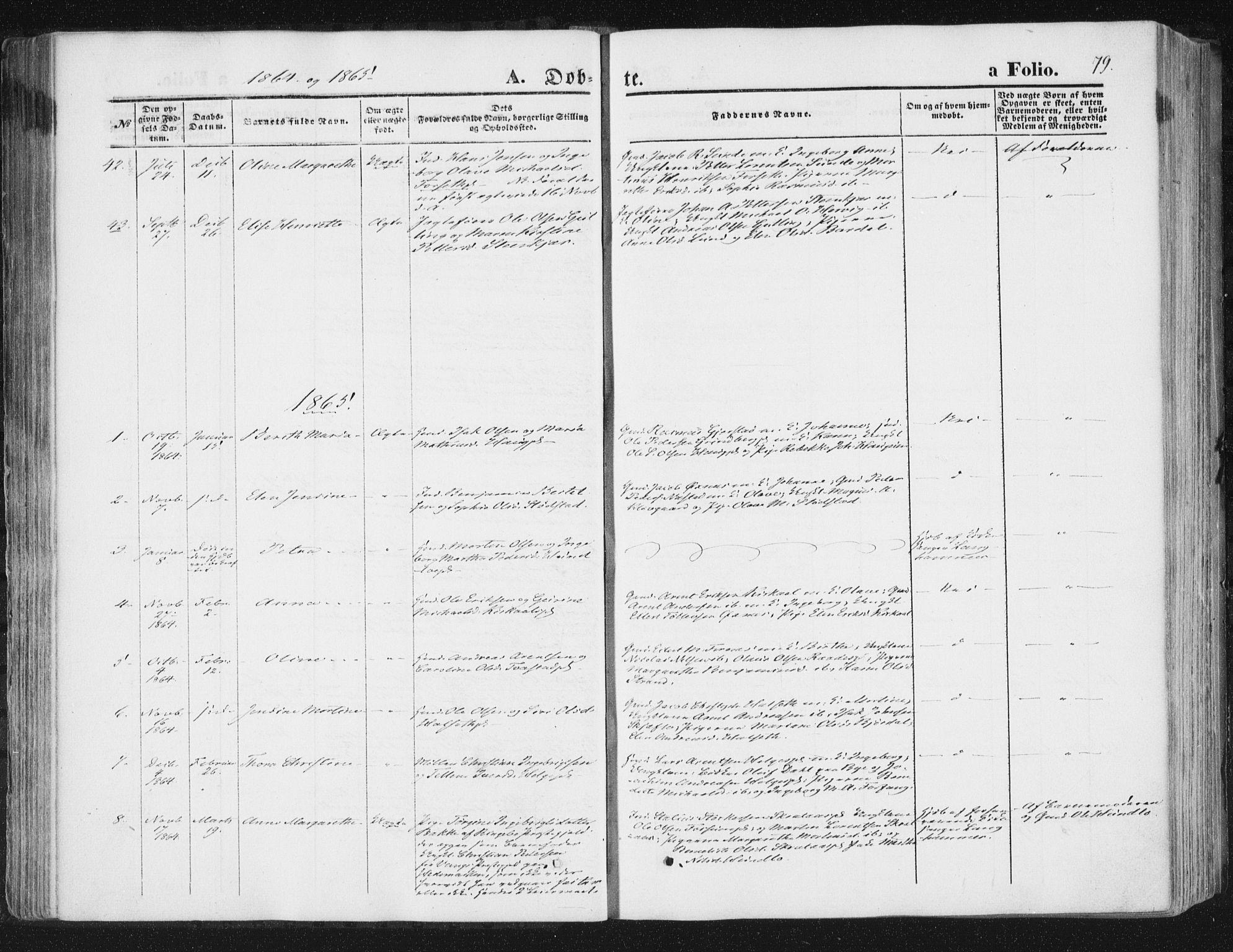 SAT, Ministerialprotokoller, klokkerbøker og fødselsregistre - Nord-Trøndelag, 746/L0447: Ministerialbok nr. 746A06, 1860-1877, s. 79