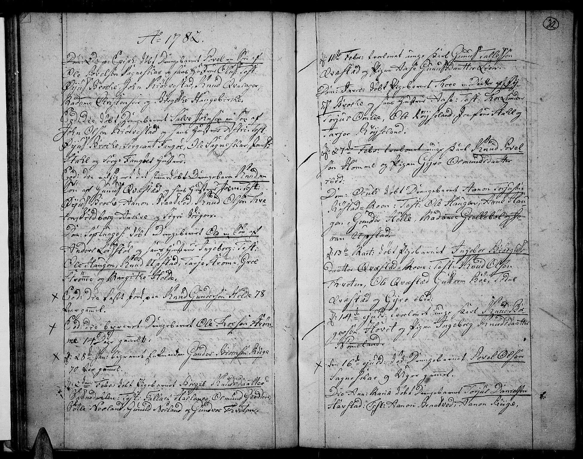 SAK, Valle sokneprestkontor, F/Fa/Fac/L0003: Ministerialbok nr. A 3, 1776-1790, s. 32