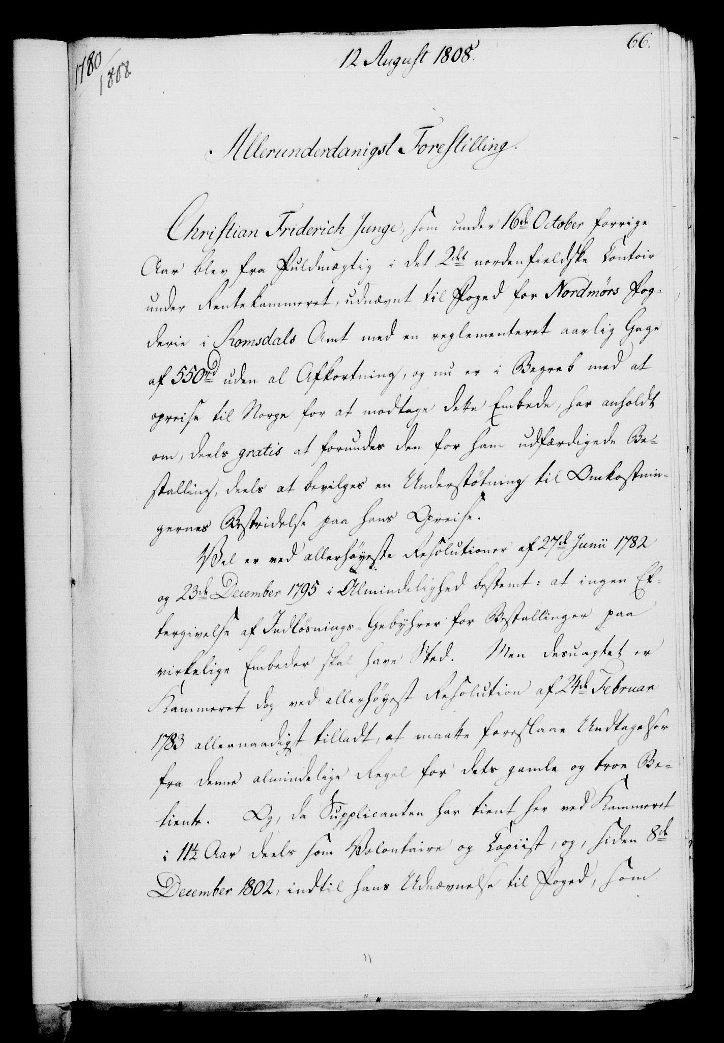 RA, Rentekammeret, Kammerkanselliet, G/Gf/Gfa/L0090: Norsk relasjons- og resolusjonsprotokoll (merket RK 52.90), 1808, s. 325