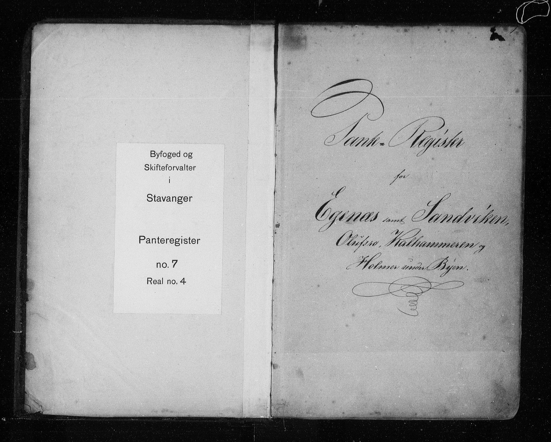SAST, Stavanger byfogd, 4/41/410/410AC/L0007: Panteregister nr. AC 7, 1855, s. 1
