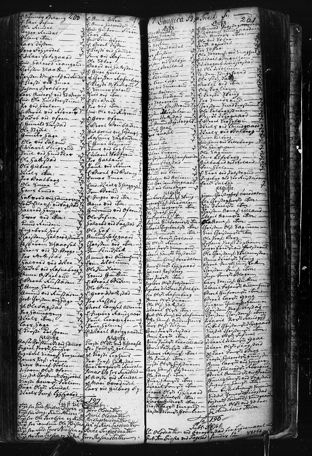 SAH, Fåberg prestekontor, Klokkerbok nr. 1, 1727-1767, s. 200-201