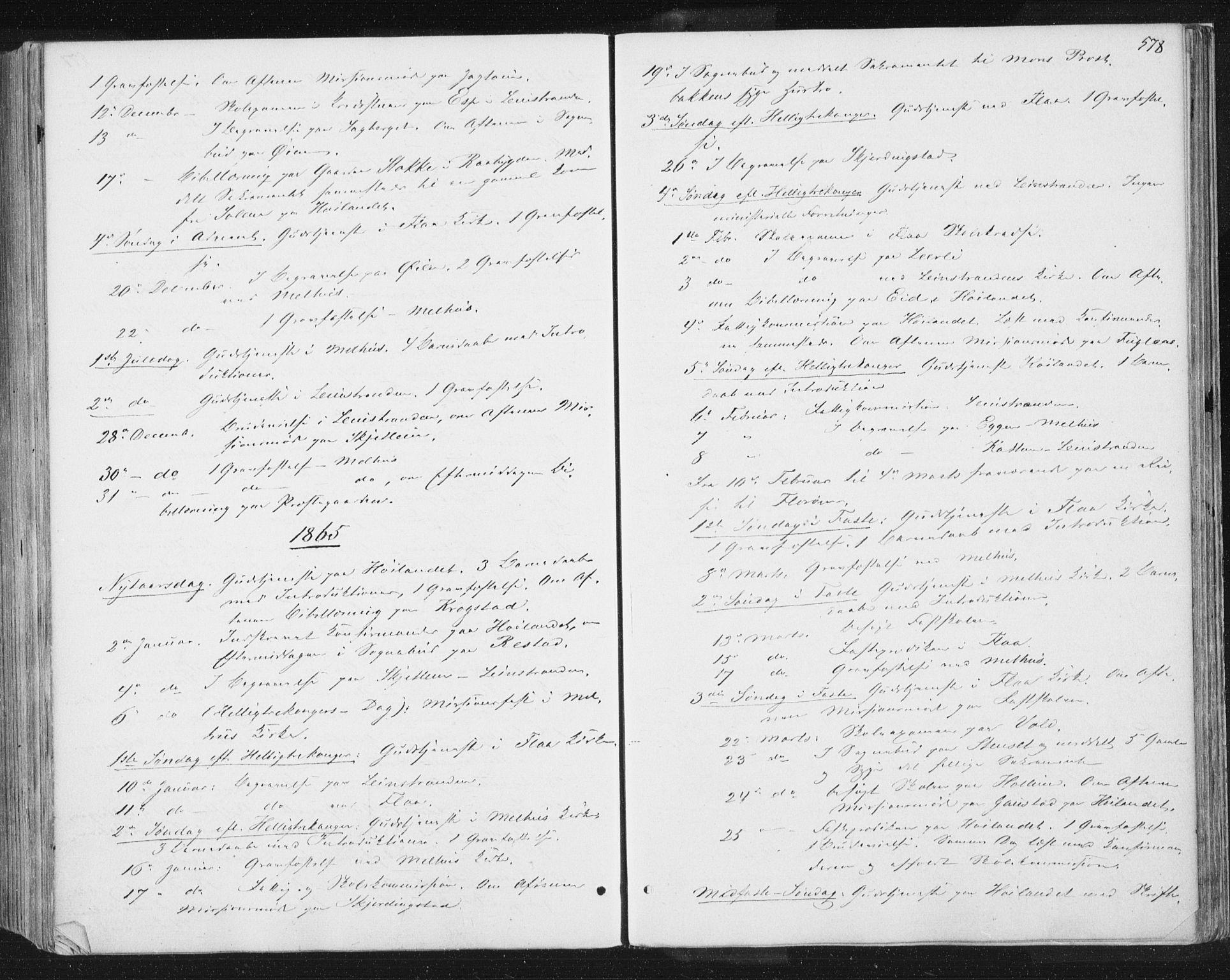 SAT, Ministerialprotokoller, klokkerbøker og fødselsregistre - Sør-Trøndelag, 691/L1077: Ministerialbok nr. 691A09, 1862-1873, s. 578