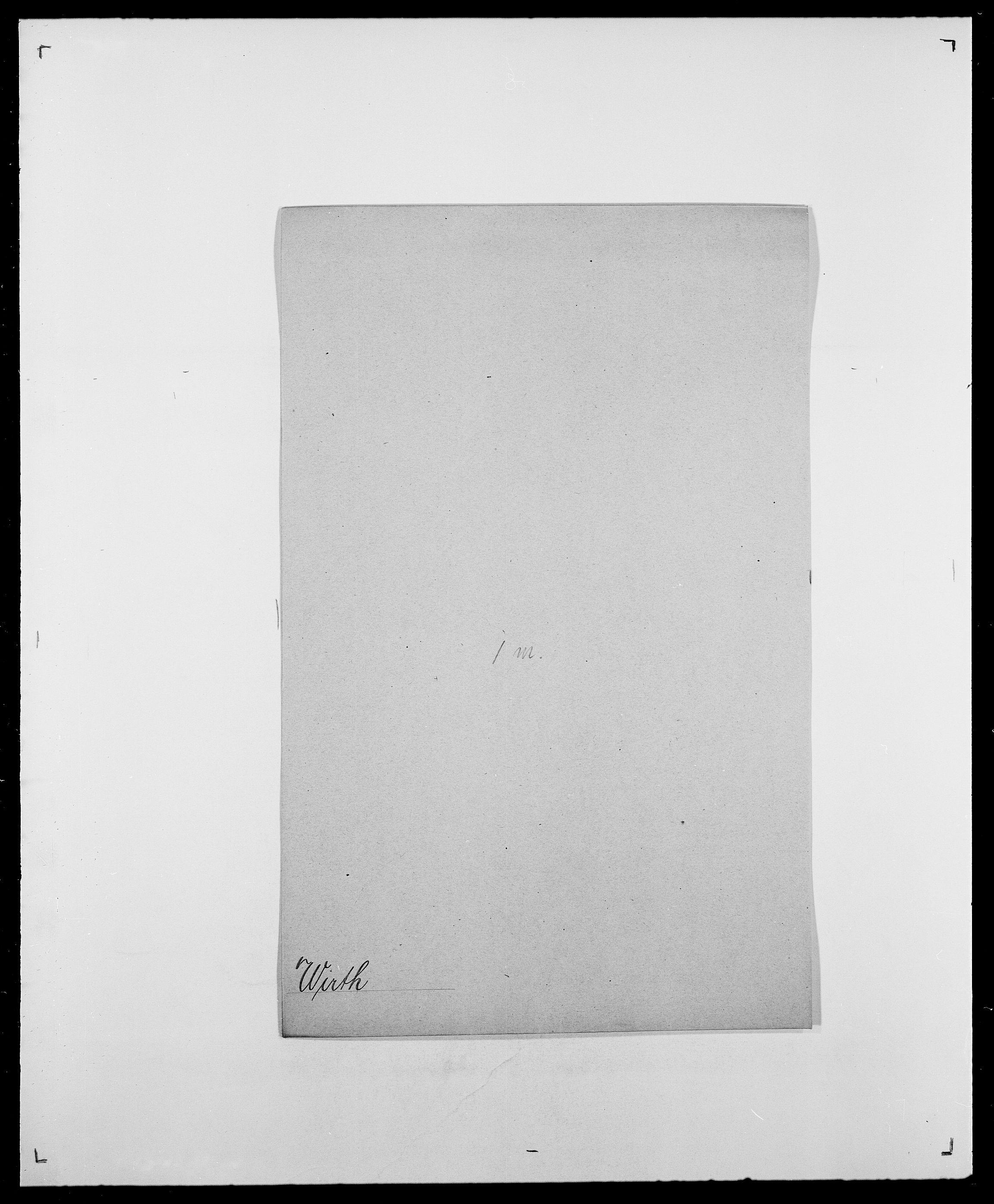 SAO, Delgobe, Charles Antoine - samling, D/Da/L0042: Vilain - Wulf, Wulff, se også Wolf, s. 376