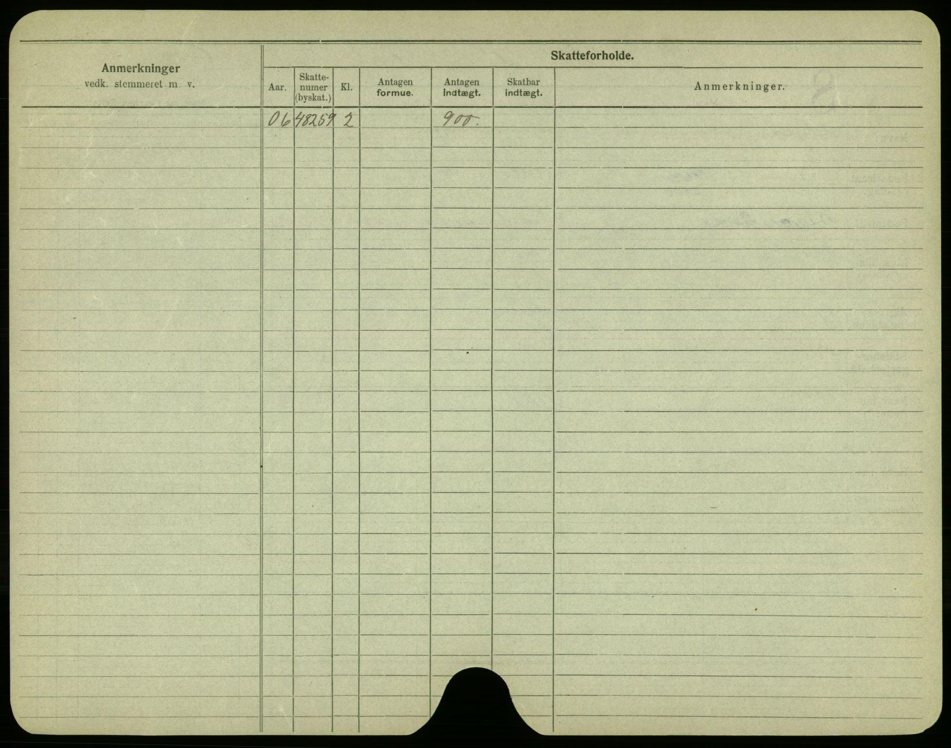 SAO, Oslo folkeregister, Registerkort, F/Fa/Fac/L0003: Menn, 1906-1914, s. 50b