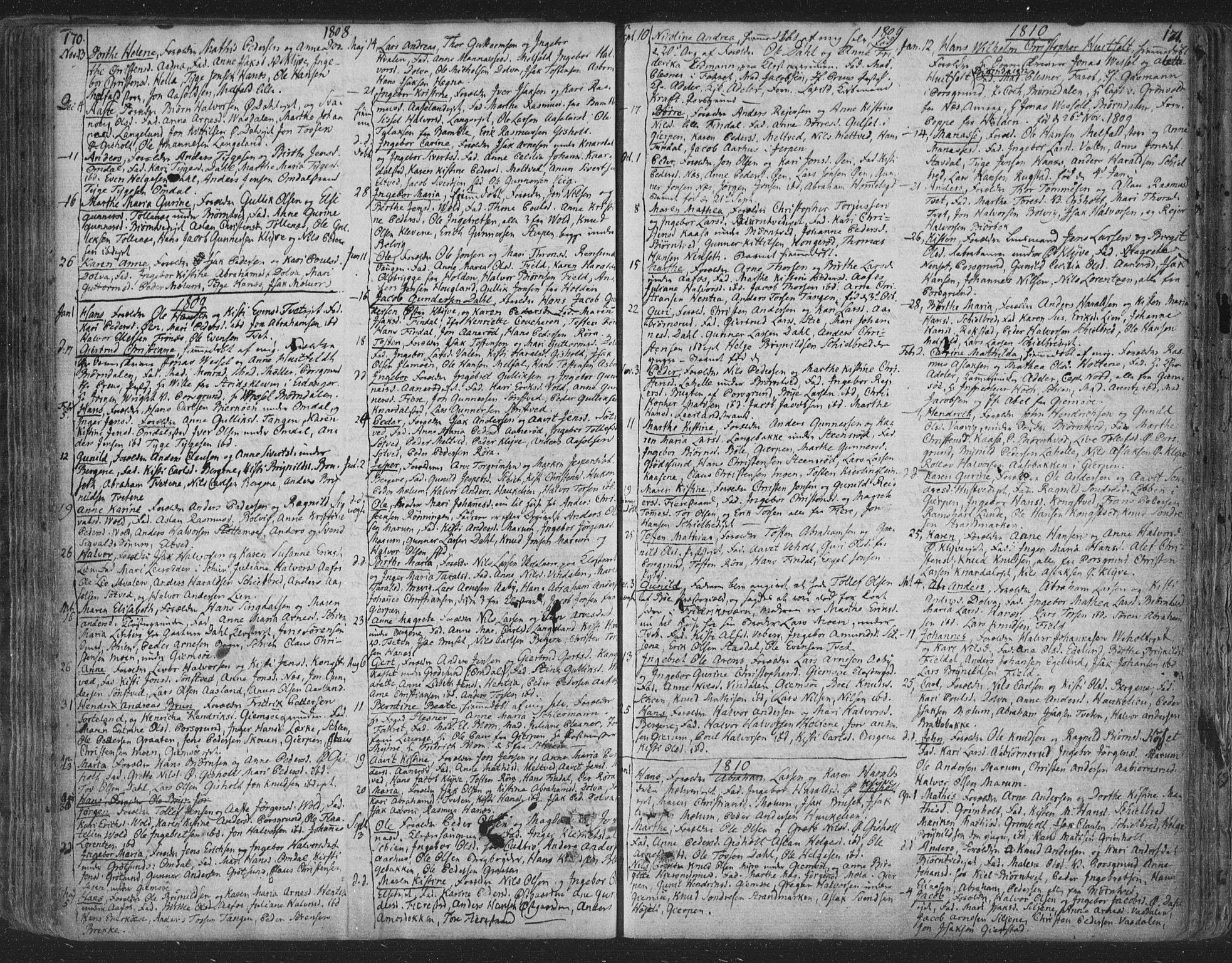 SAKO, Solum kirkebøker, F/Fa/L0003: Ministerialbok nr. I 3, 1761-1814, s. 170-171