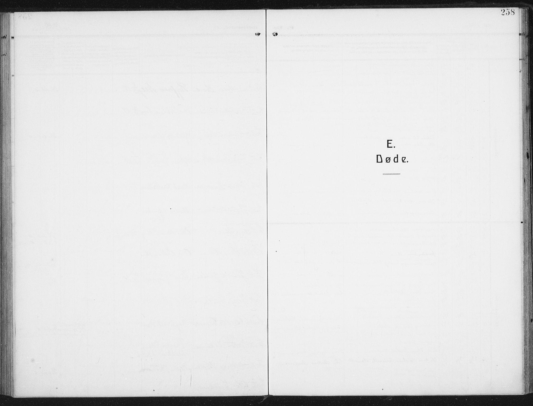 SAT, Ministerialprotokoller, klokkerbøker og fødselsregistre - Nordland, 880/L1135: Ministerialbok nr. 880A09, 1908-1919, s. 258