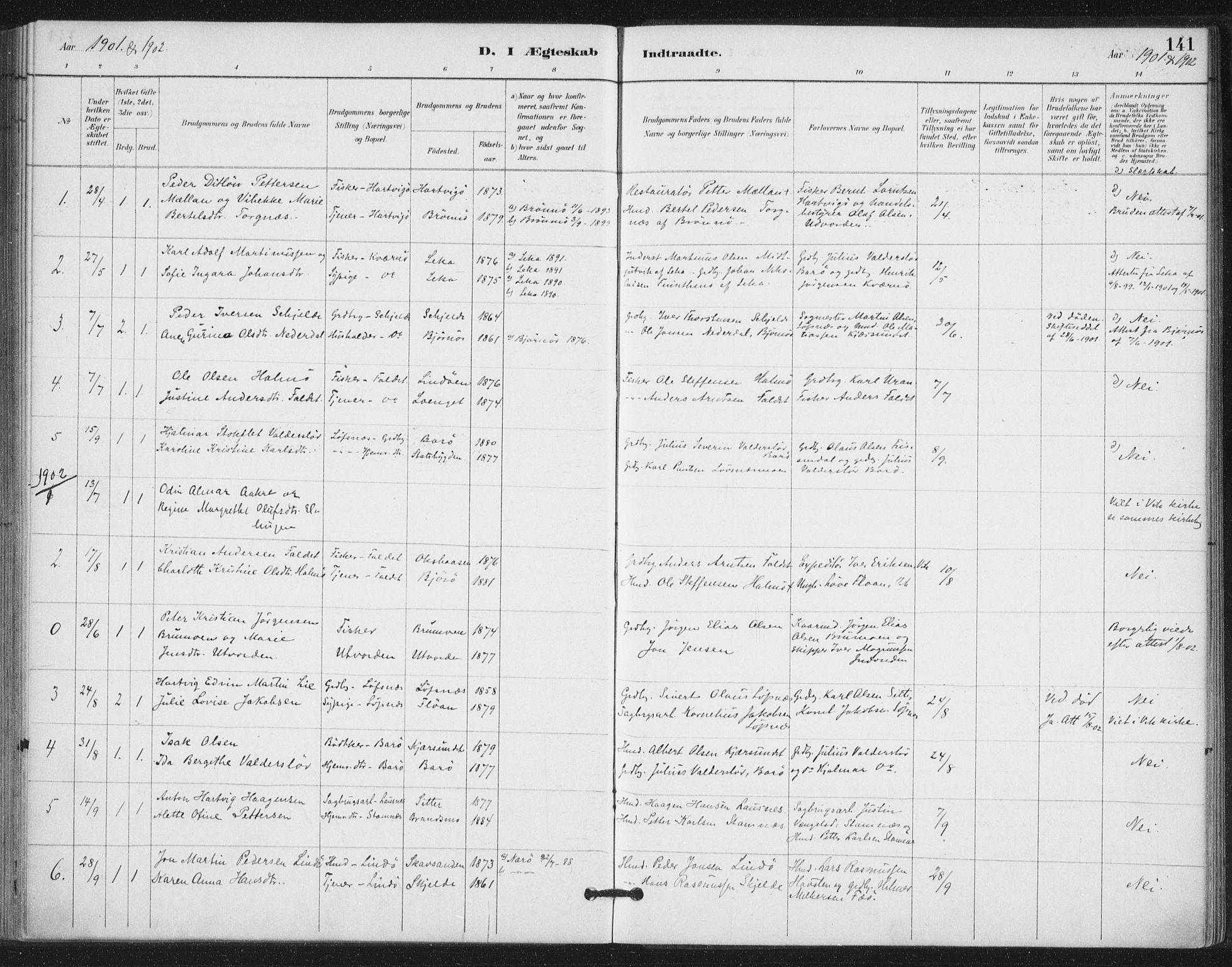 SAT, Ministerialprotokoller, klokkerbøker og fødselsregistre - Nord-Trøndelag, 772/L0603: Ministerialbok nr. 772A01, 1885-1912, s. 141