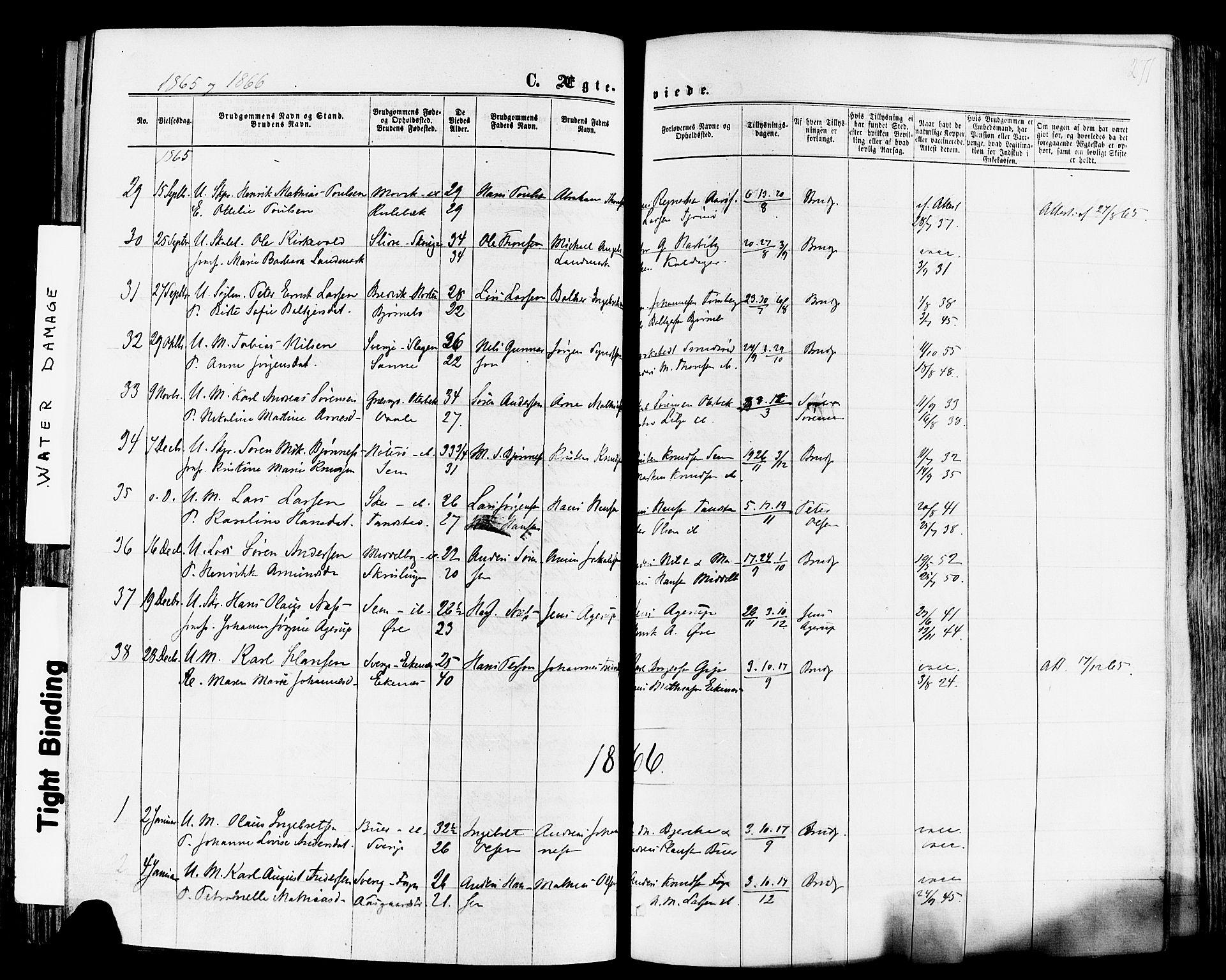 SAKO, Nøtterøy kirkebøker, F/Fa/L0007: Ministerialbok nr. I 7, 1865-1877, s. 271