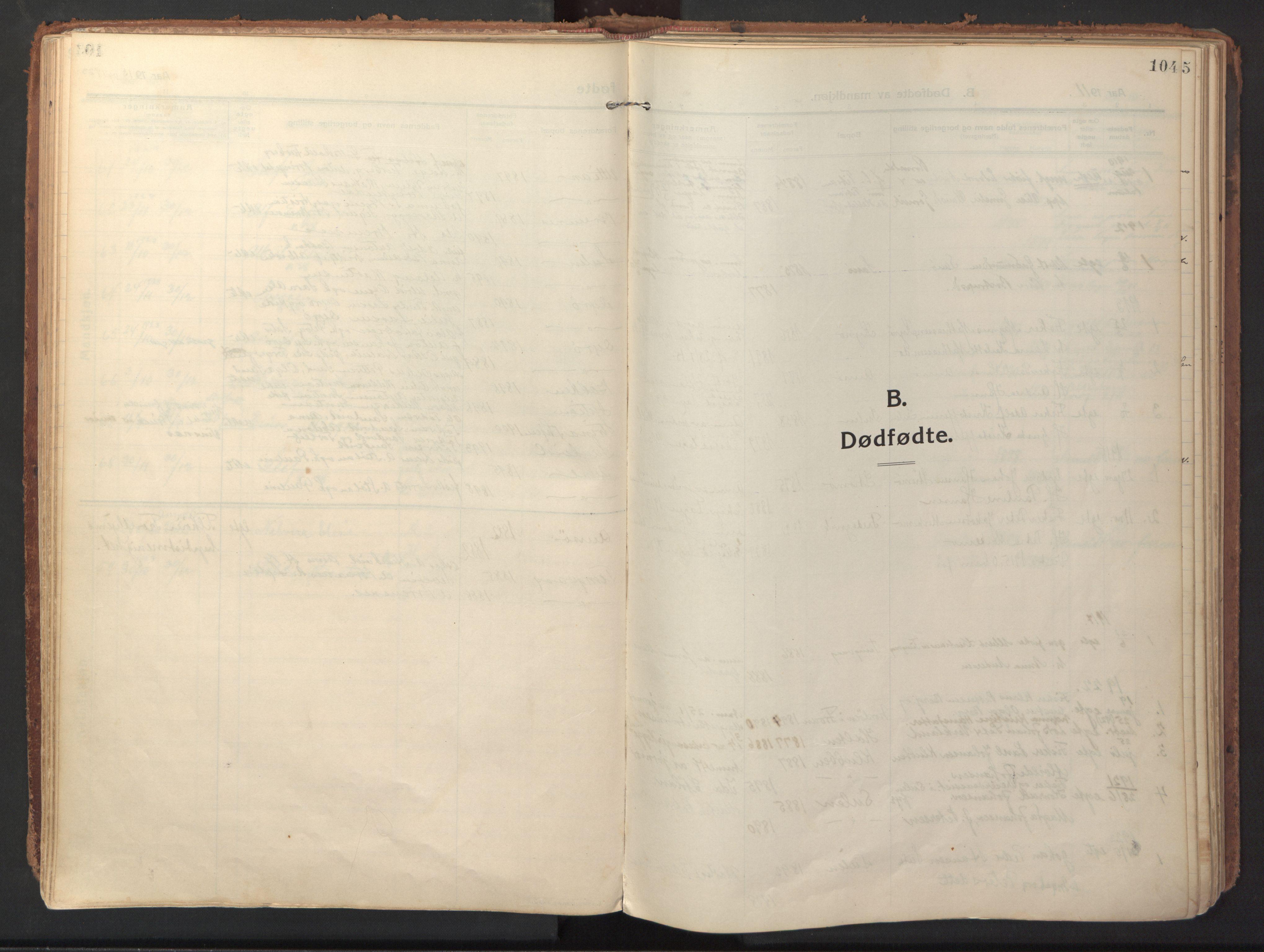 SAT, Ministerialprotokoller, klokkerbøker og fødselsregistre - Sør-Trøndelag, 640/L0581: Ministerialbok nr. 640A06, 1910-1924, s. 104